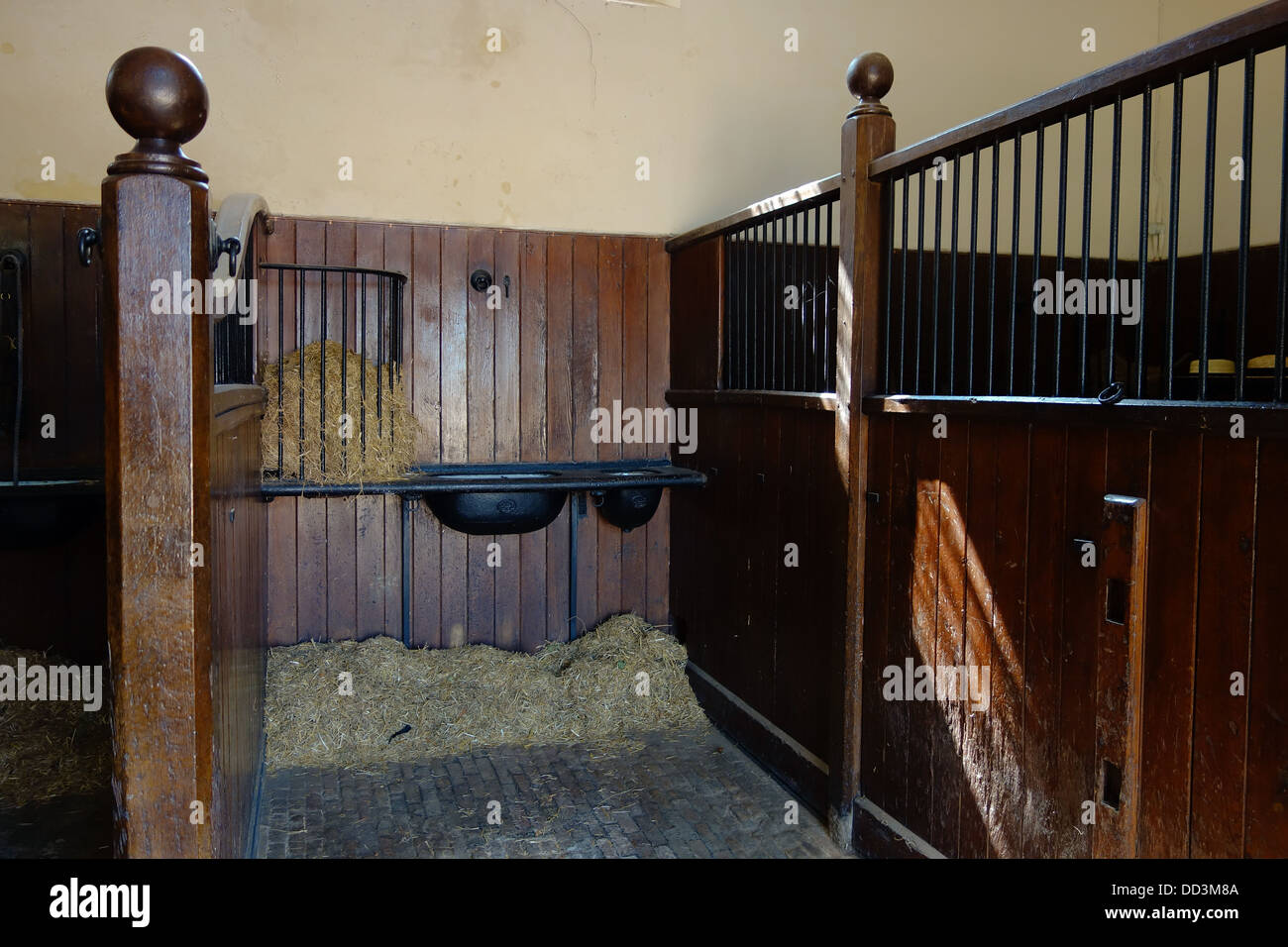 A Stable Stall Set Out As In Victorian Era At Audley End