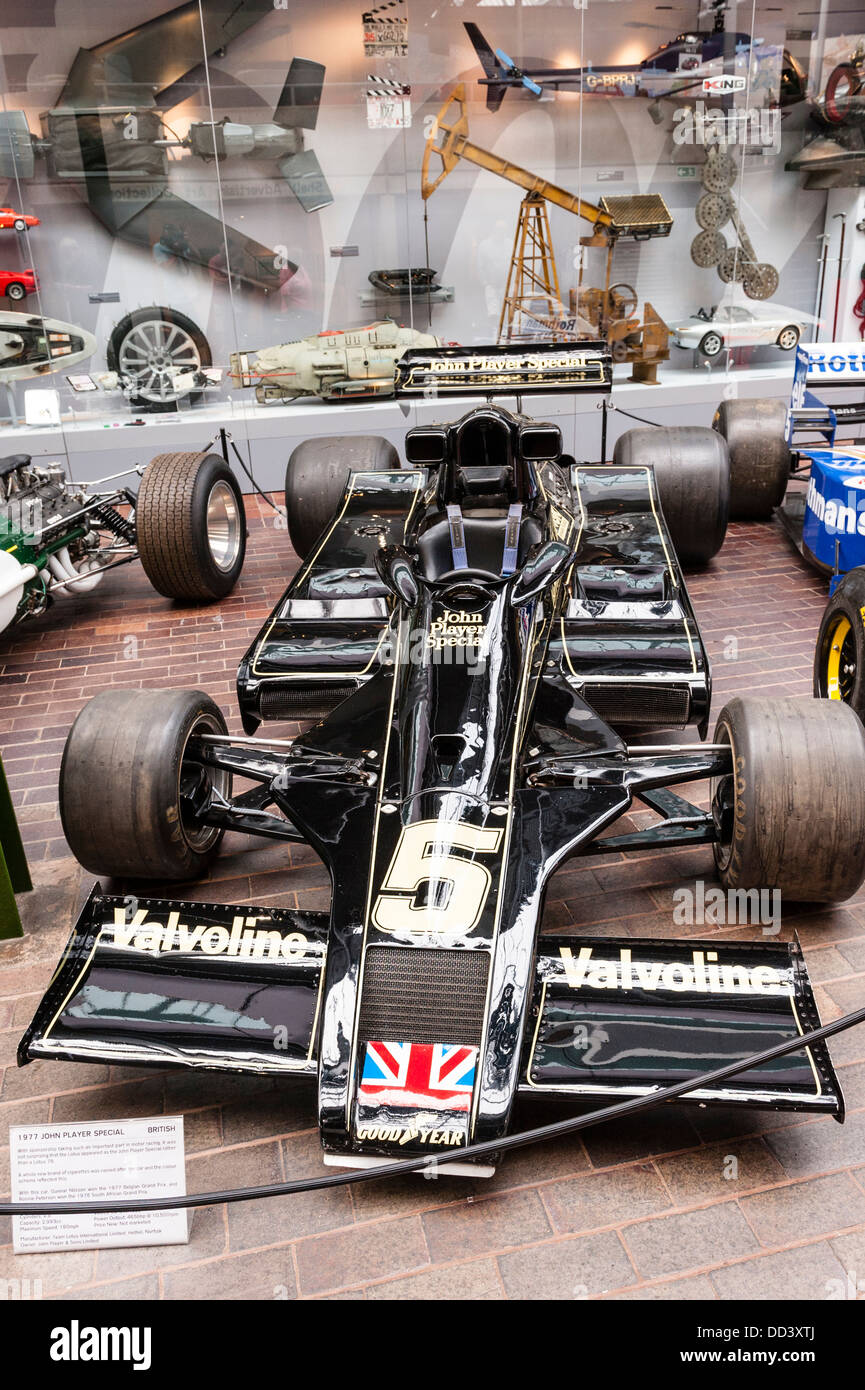 Racing Cars Inside The National Motor Museum At Beaulieu In