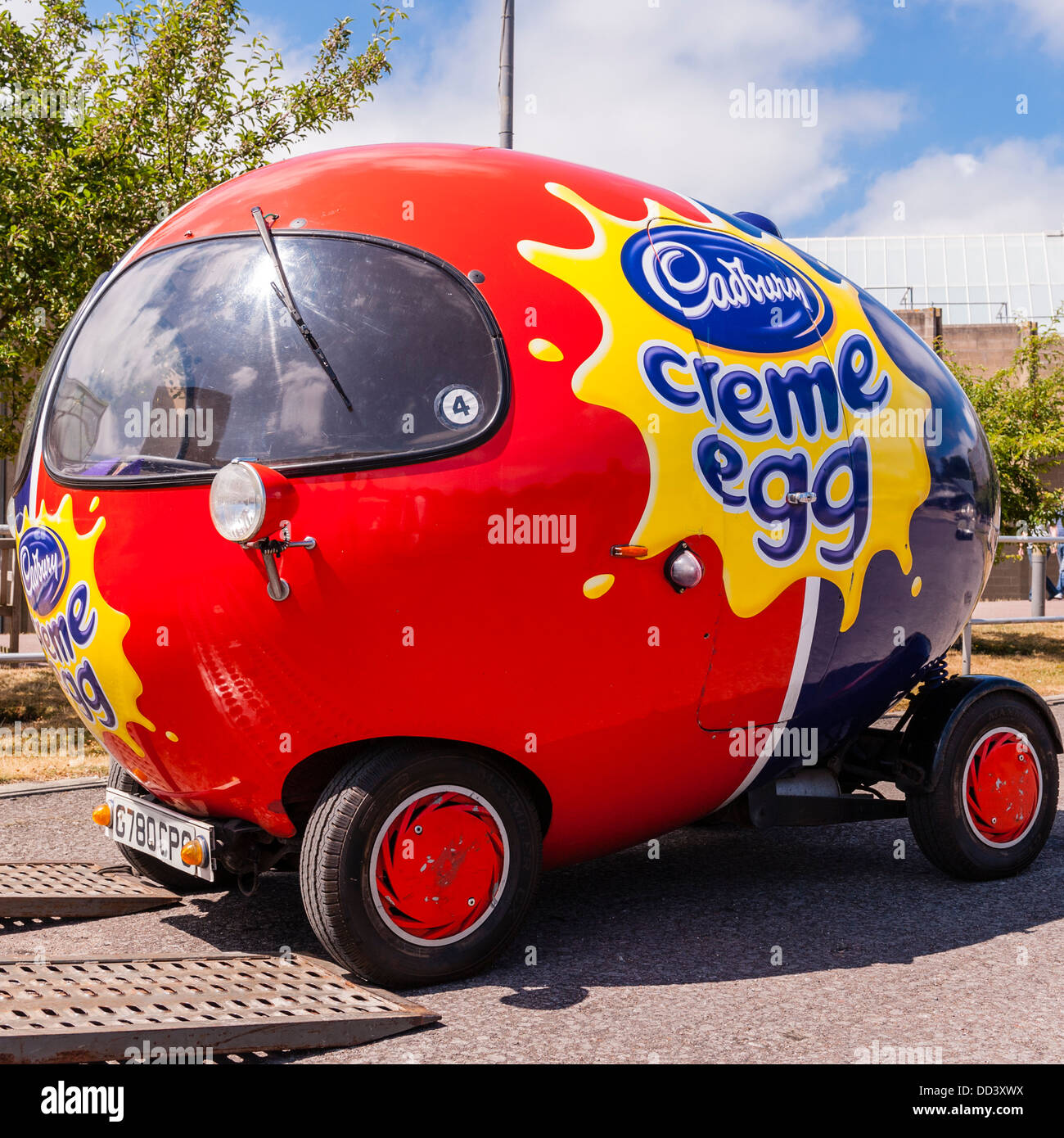 The cadbury creme egg car at the national motor museum at for National motors used cars