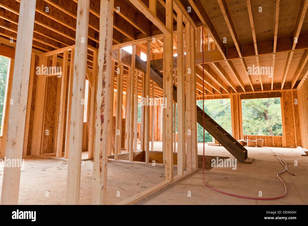 new single family home wood framing virginia usa - Wood Framing