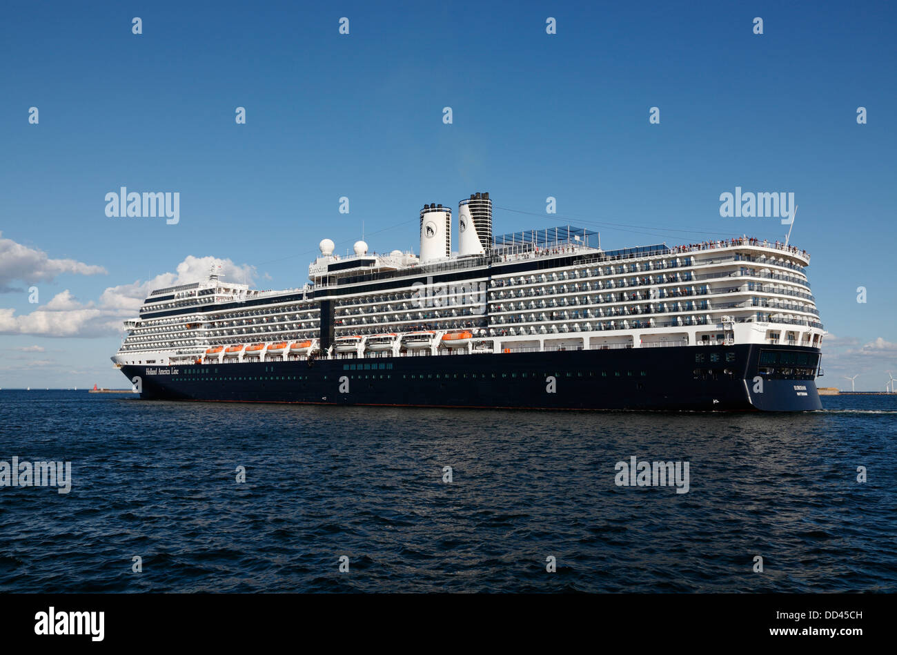 The Cruise Ship MS Eurodam From Holland America Line Leaves The - Cruise ship copenhagen
