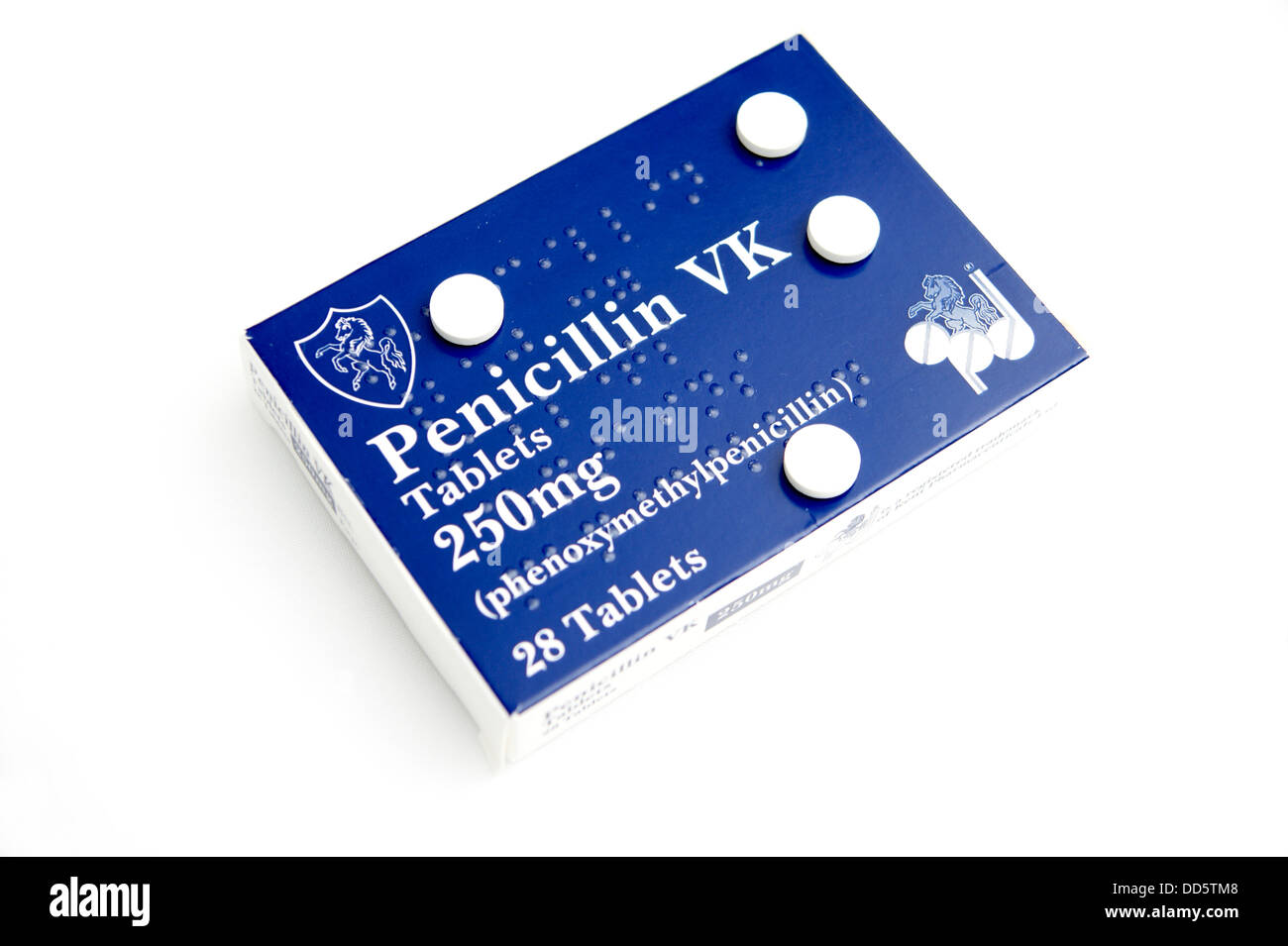 Packs of Penicillin VK (phenoxymethylpenicillin) tablets ...