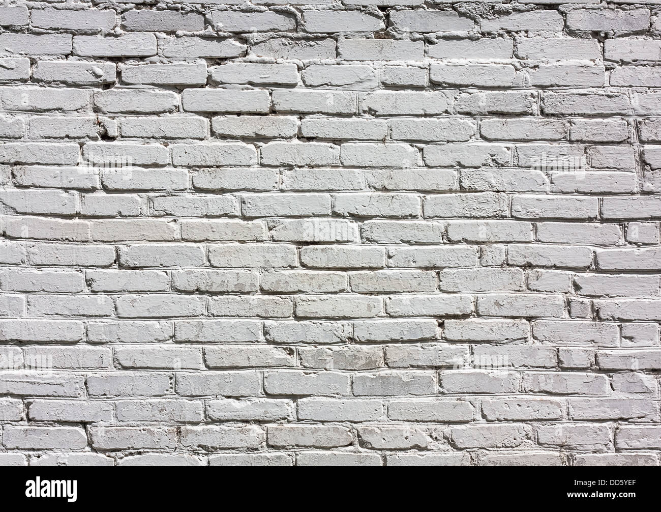 Old White Brick Wall Close Up Background Texture Stock