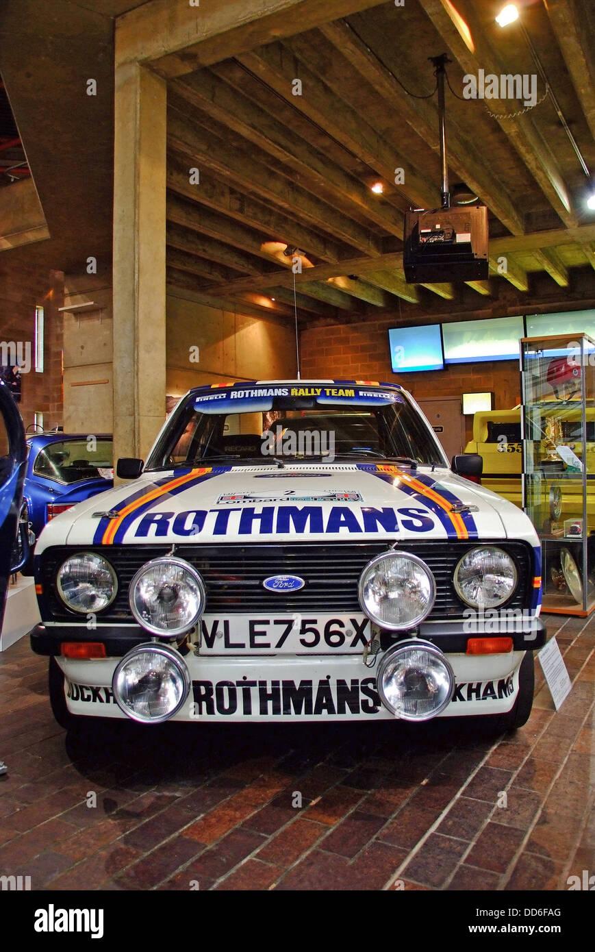 Rothmans Mk2 Ford Escort Rally Car Stock Photo, Royalty Free Image ...