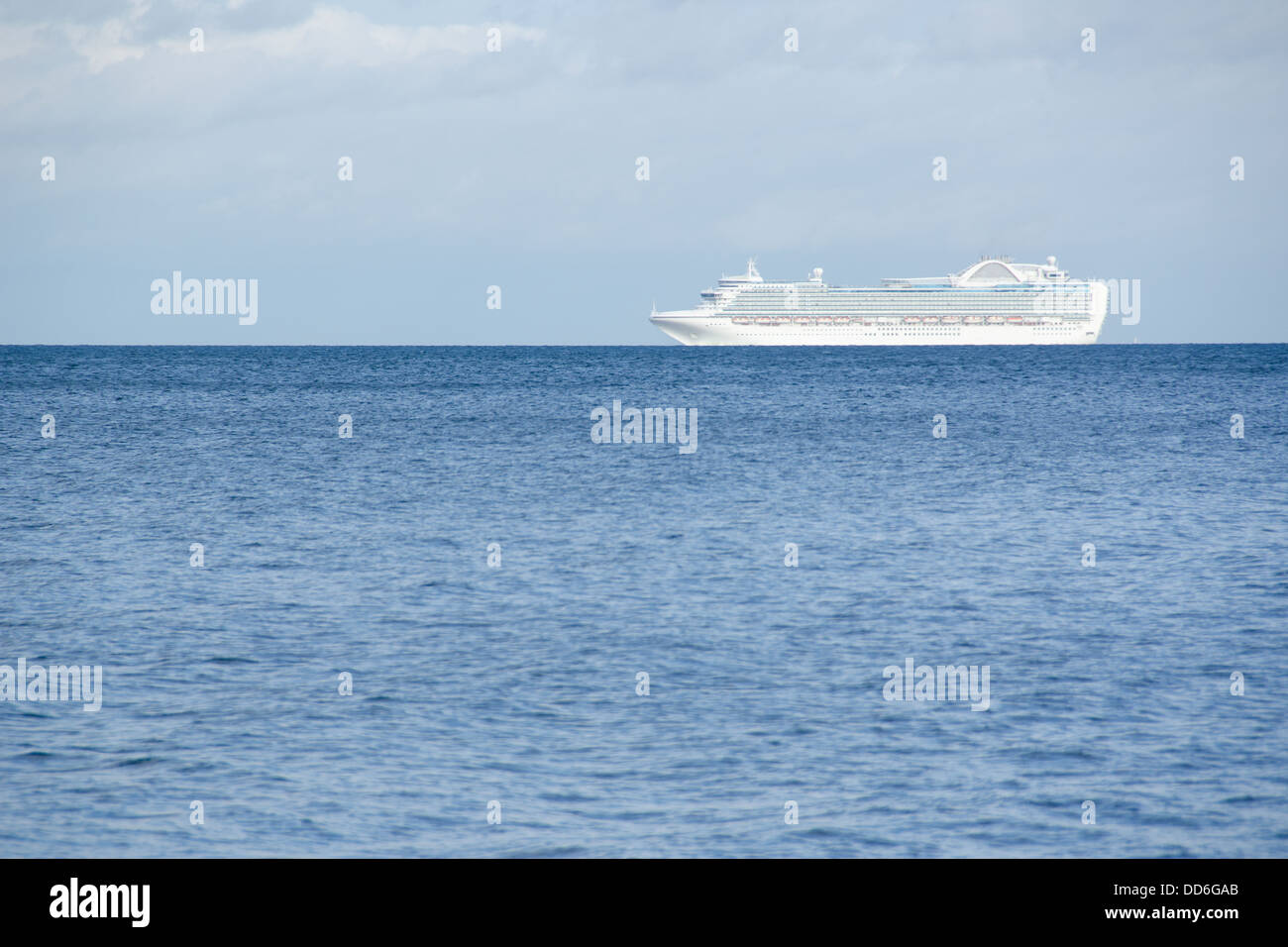 Cruise Ship On The Baltic Sea Close To Copenhagen Denmark Stock - Cruise ship copenhagen