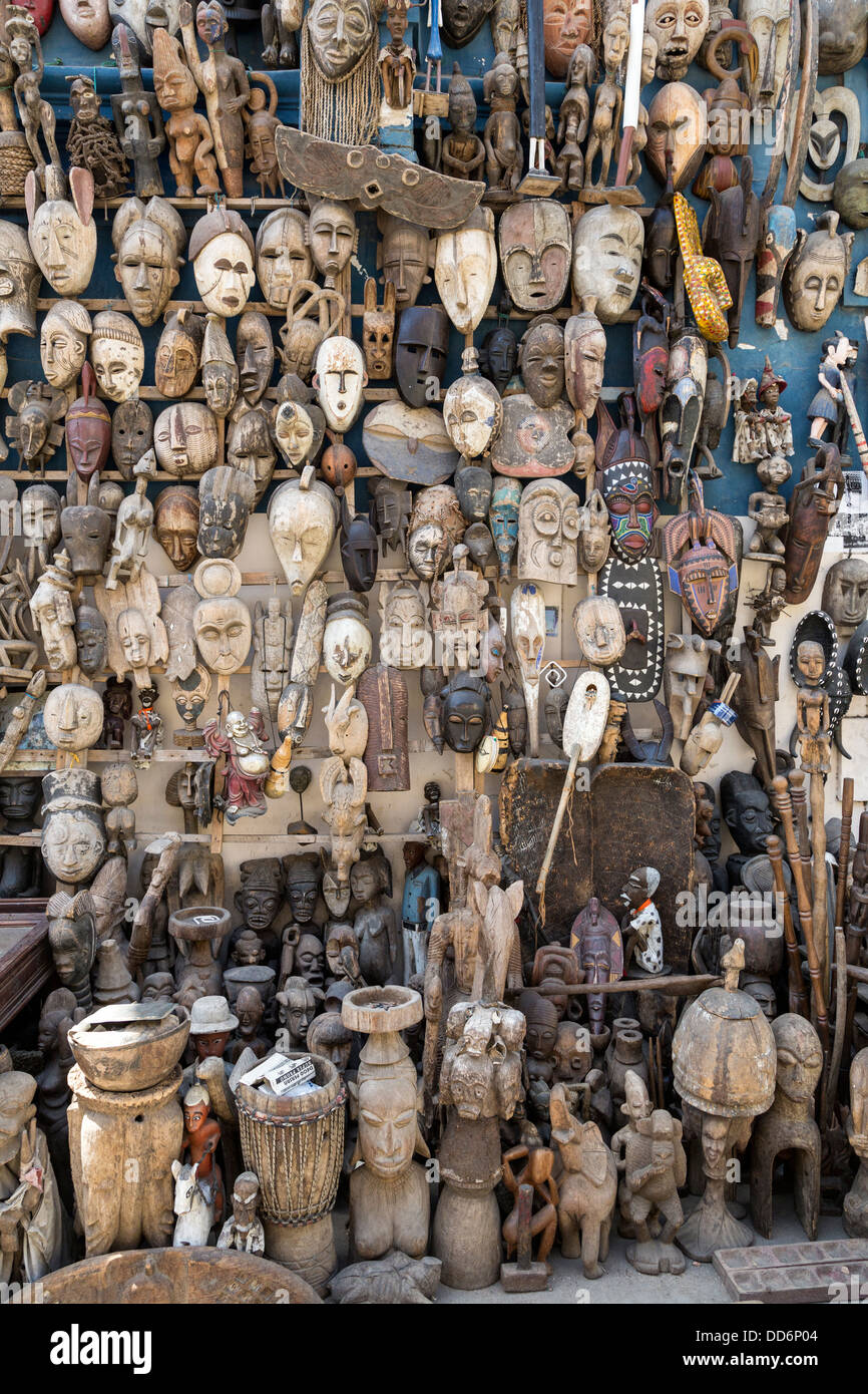 carved african masks for sale as souvenirs