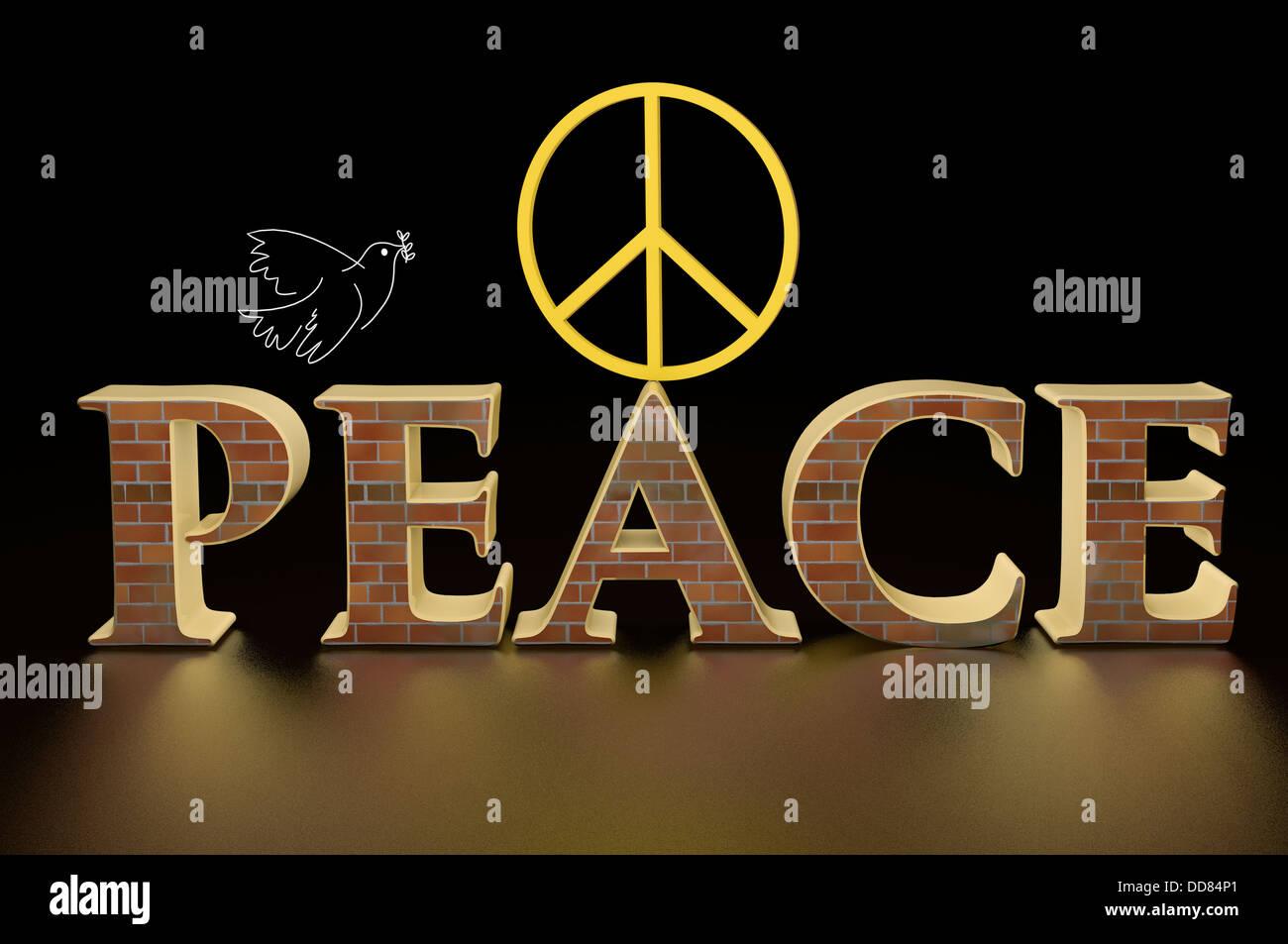 Illustration of the symbols of world peace stock photo 59801001 alamy illustration of the symbols of world peace biocorpaavc Images