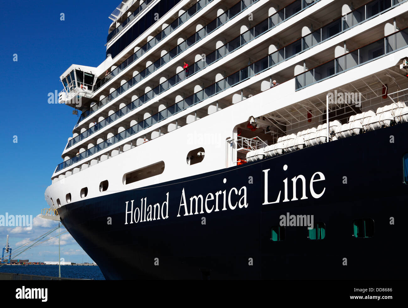 Bow of the cruise ship ms eurodam from holland america line moored at