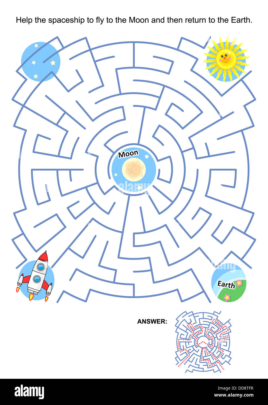 maze game or activity page for kids help the spaceship to Free Space Clip Art Outer Space Clip Art Free