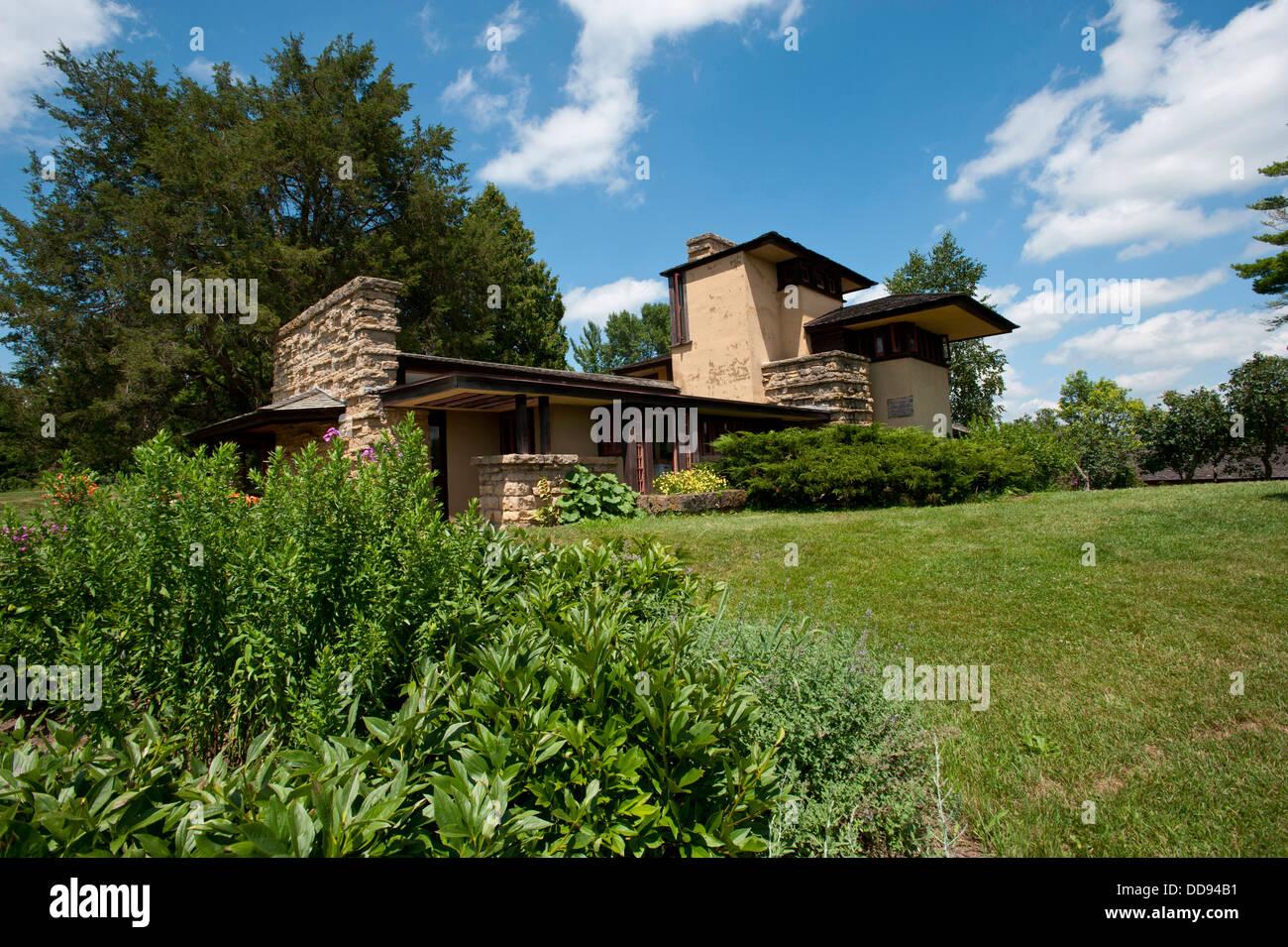 Usa Wisconsin Spring Green Frank Lloyd Wright Taliesin Wright Stock Photo 59822645 Alamy