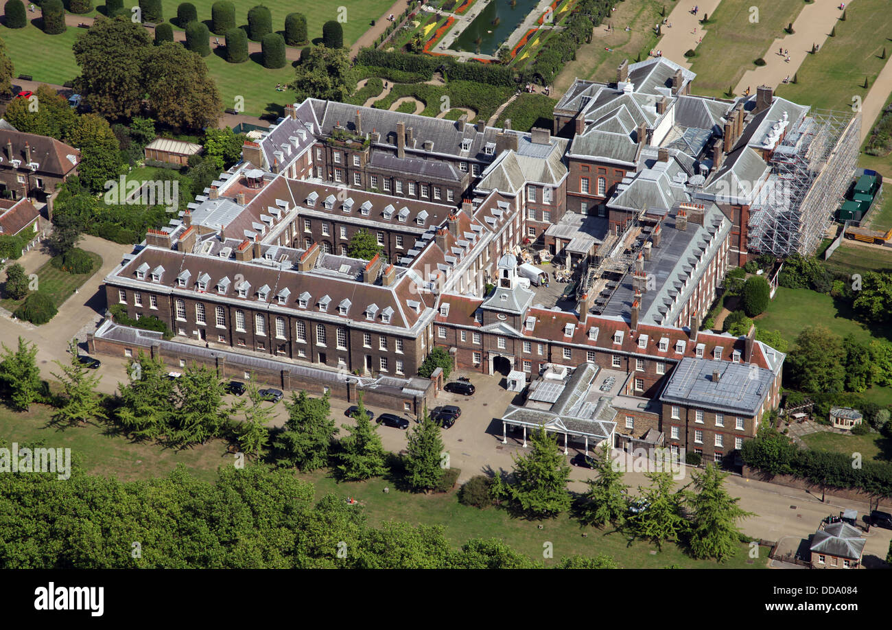 Aerial View Of Kensington Palace In London Home Of Prince