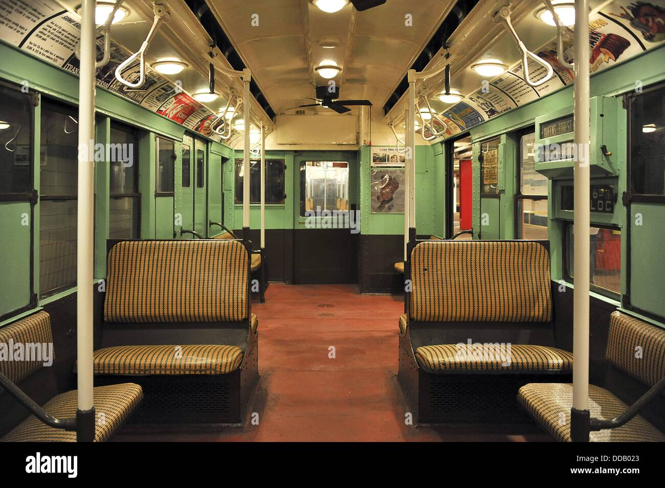 interior of new york city r 4 city car a subway car in the new york stock photo royalty free. Black Bedroom Furniture Sets. Home Design Ideas