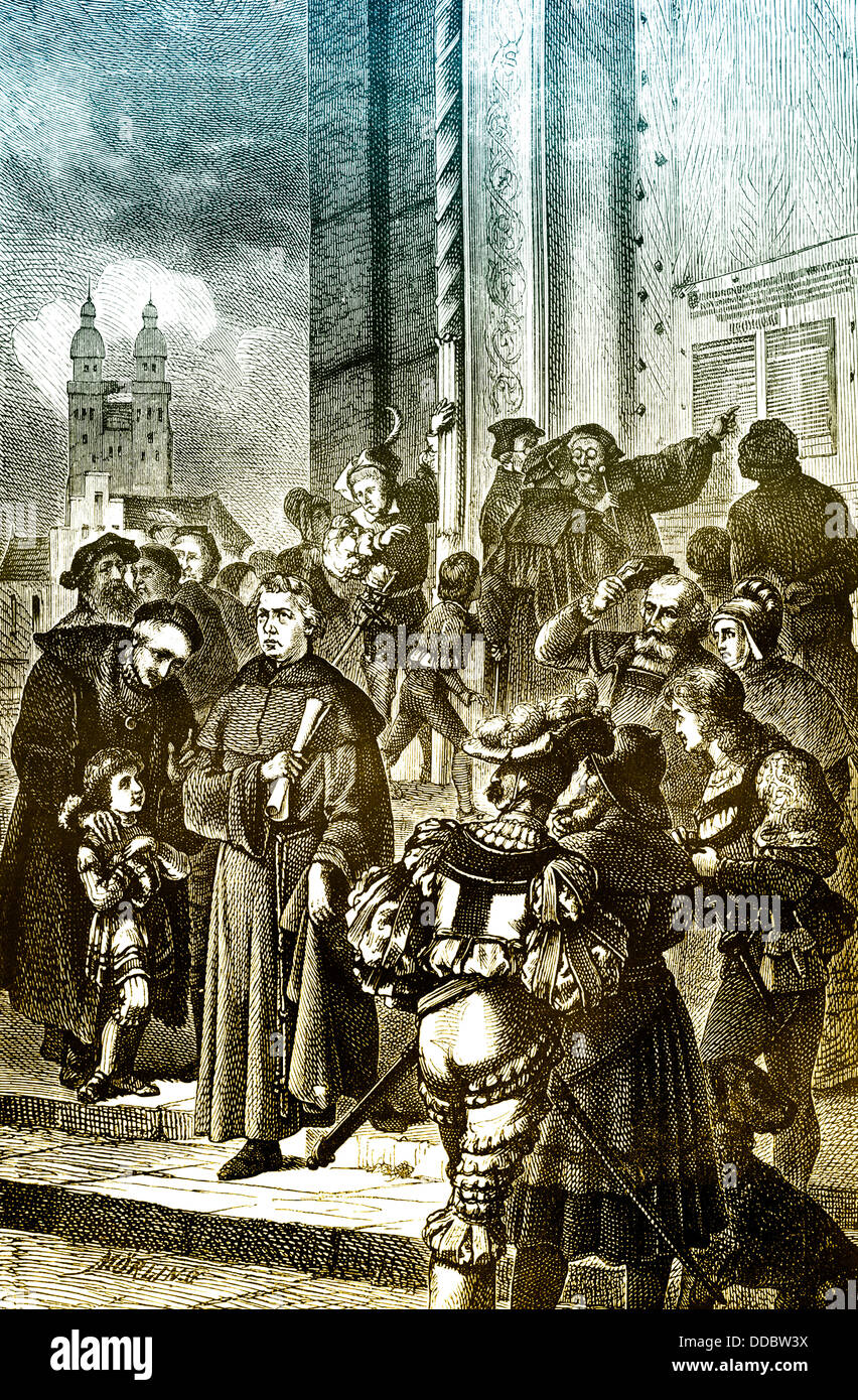 luther and the 95 thesis (1) on oct 31, 1517, martin luther mailed the 95 theses to local bishops that they might take action against indulgences according to luther's co-worker, philipp melanchthon, luther also.