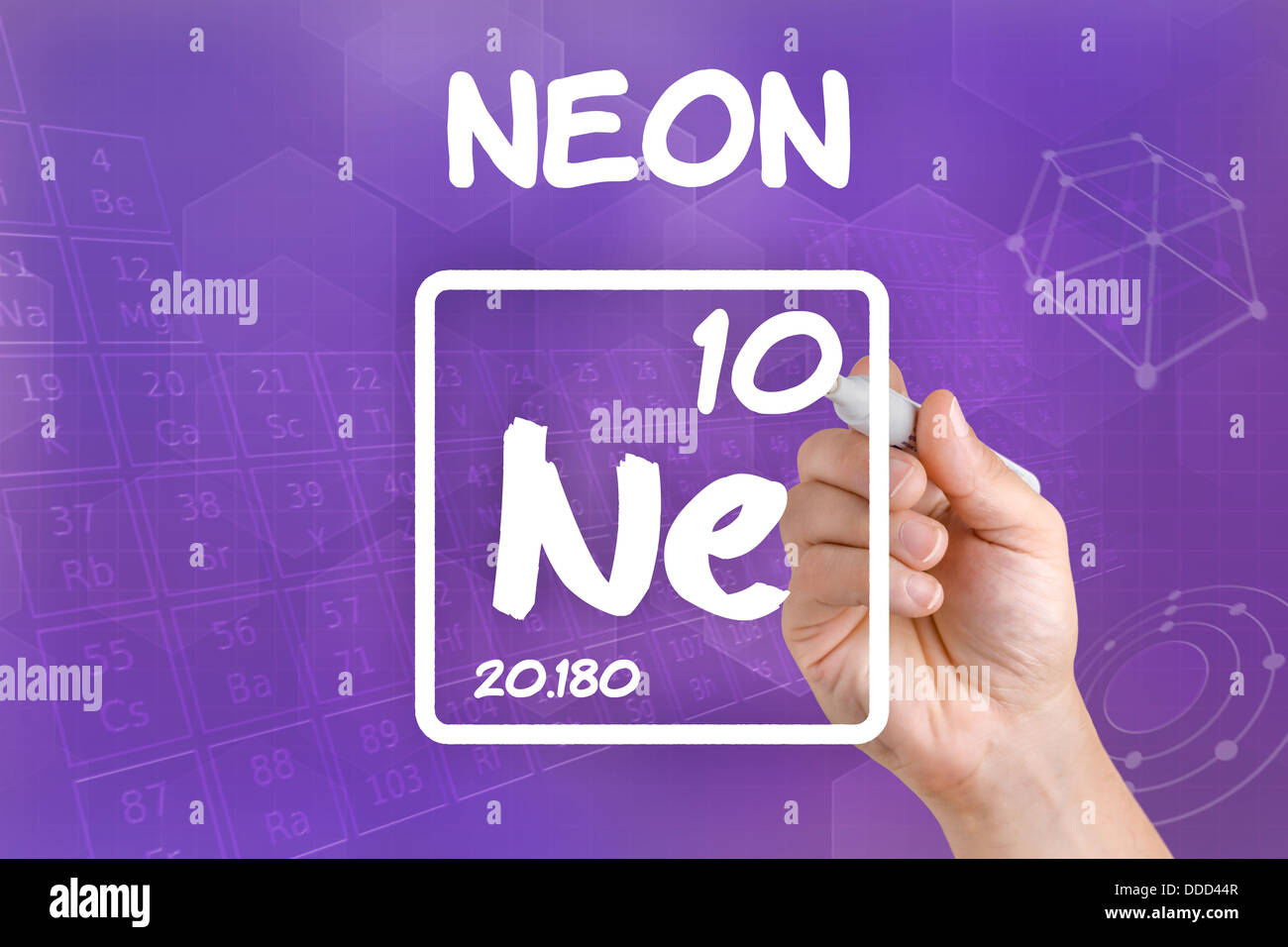Symbol for the chemical element neon stock photo 59910279 alamy symbol for the chemical element neon buycottarizona Choice Image