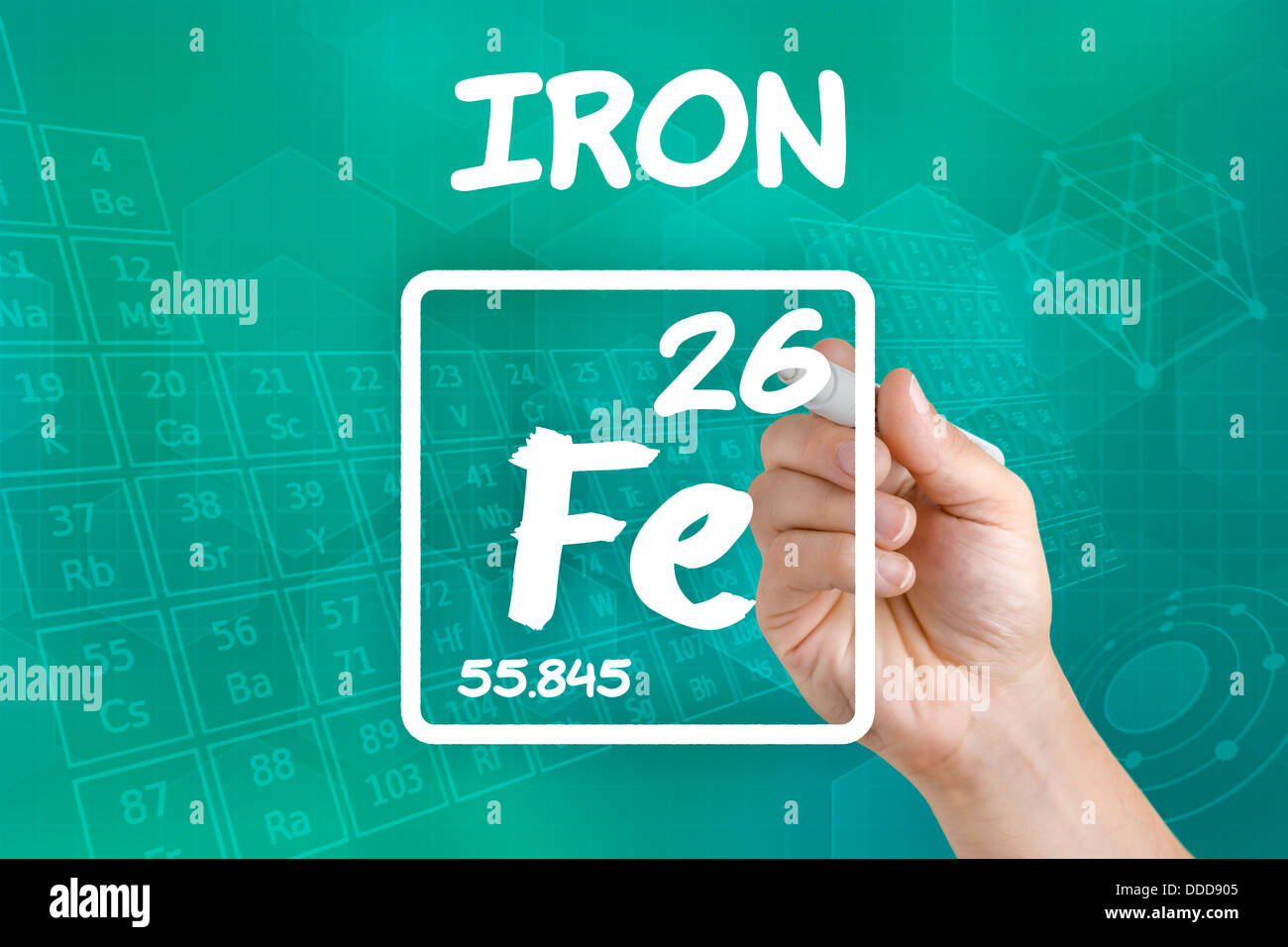 Symbol for the chemical element iron stock photo 59914069 alamy symbol for the chemical element iron buycottarizona Image collections