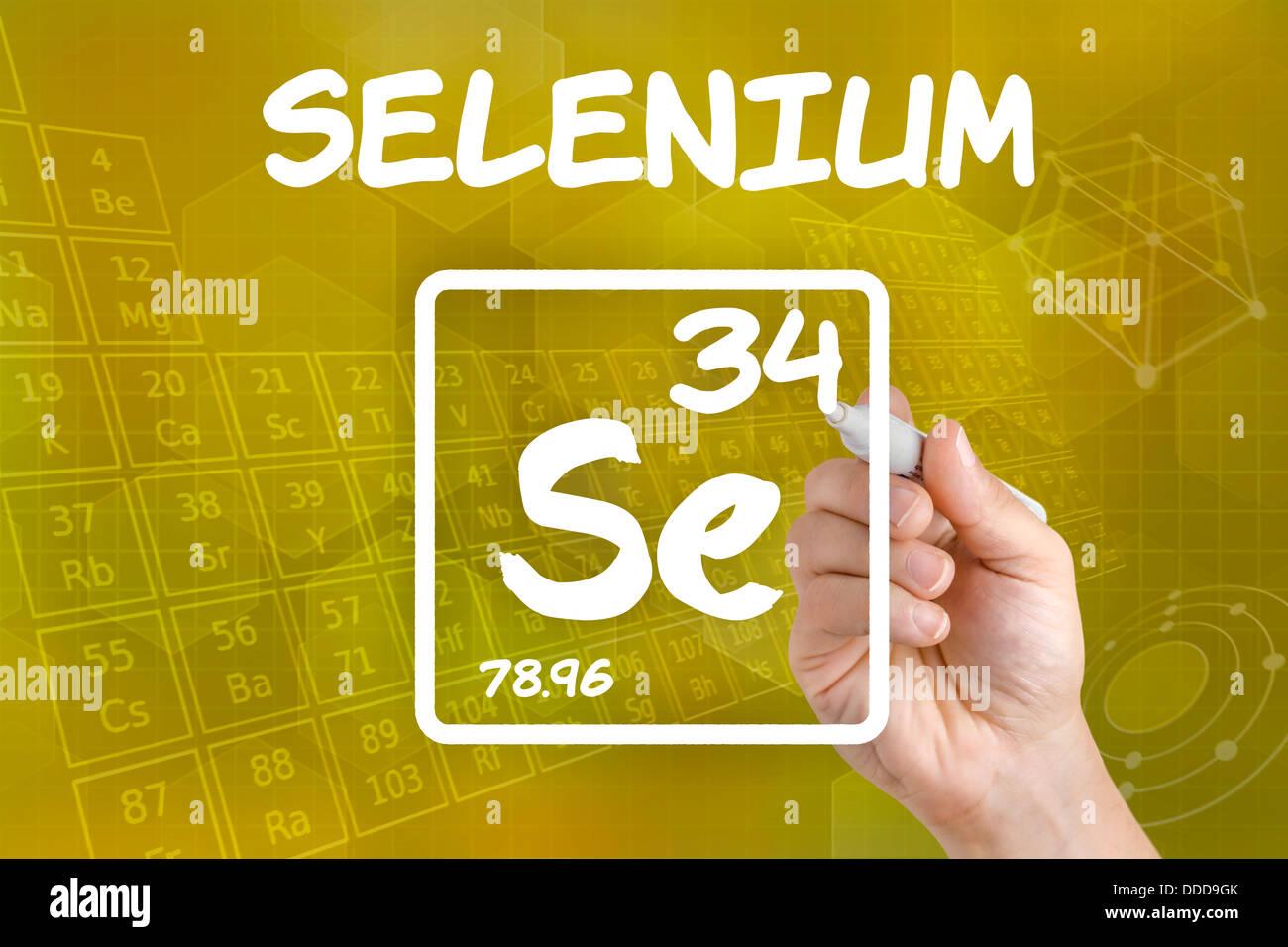 Symbol for the chemical element selenium stock photo royalty free symbol for the chemical element selenium buycottarizona