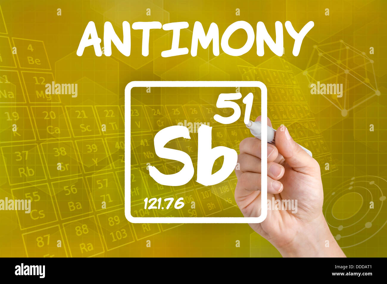 Symbol for the chemical element antimony stock photo 59915521 alamy symbol for the chemical element antimony biocorpaavc Images