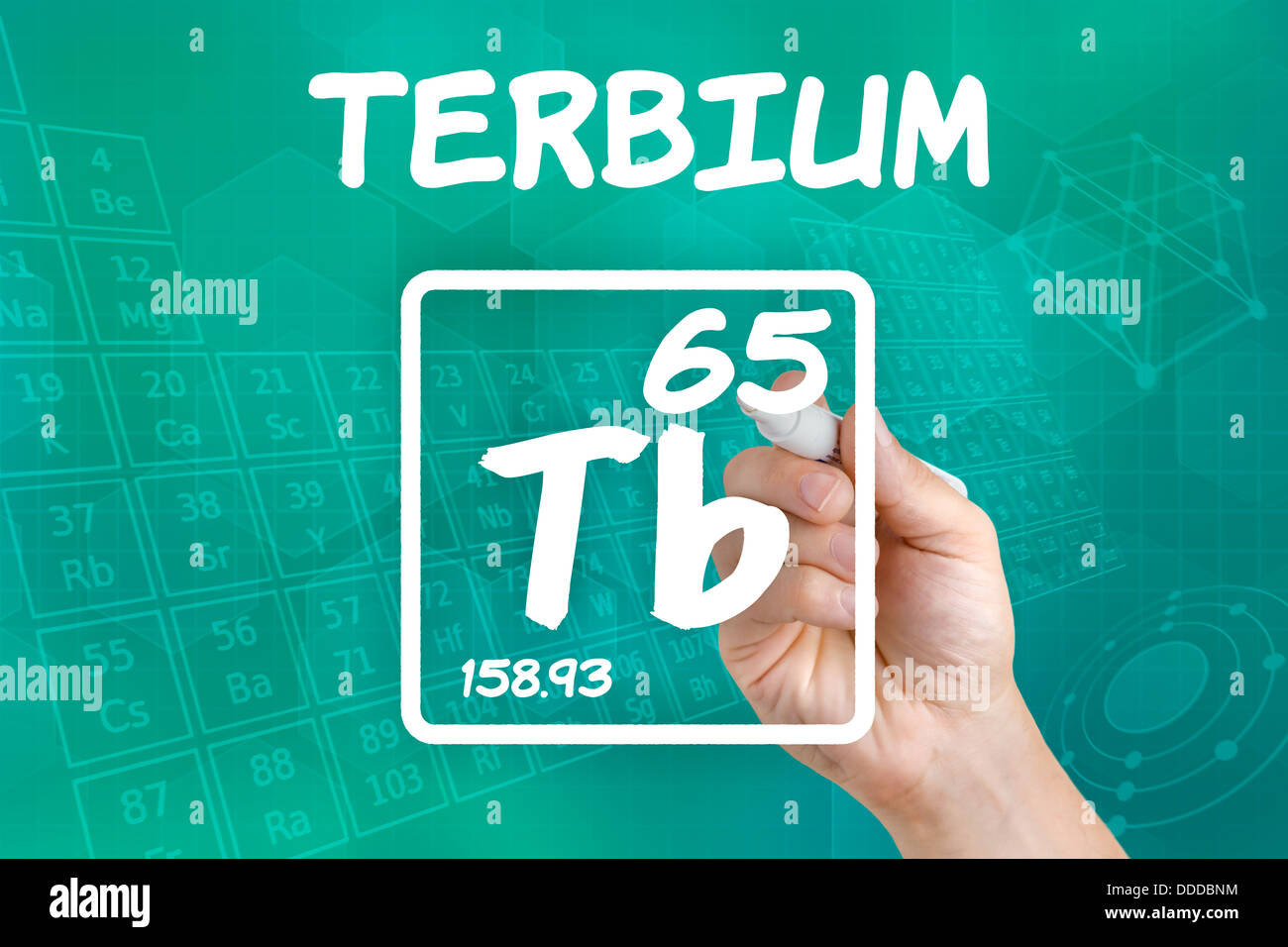 Symbol for the chemical element terbium stock photo 59916240 alamy symbol for the chemical element terbium buycottarizona Image collections