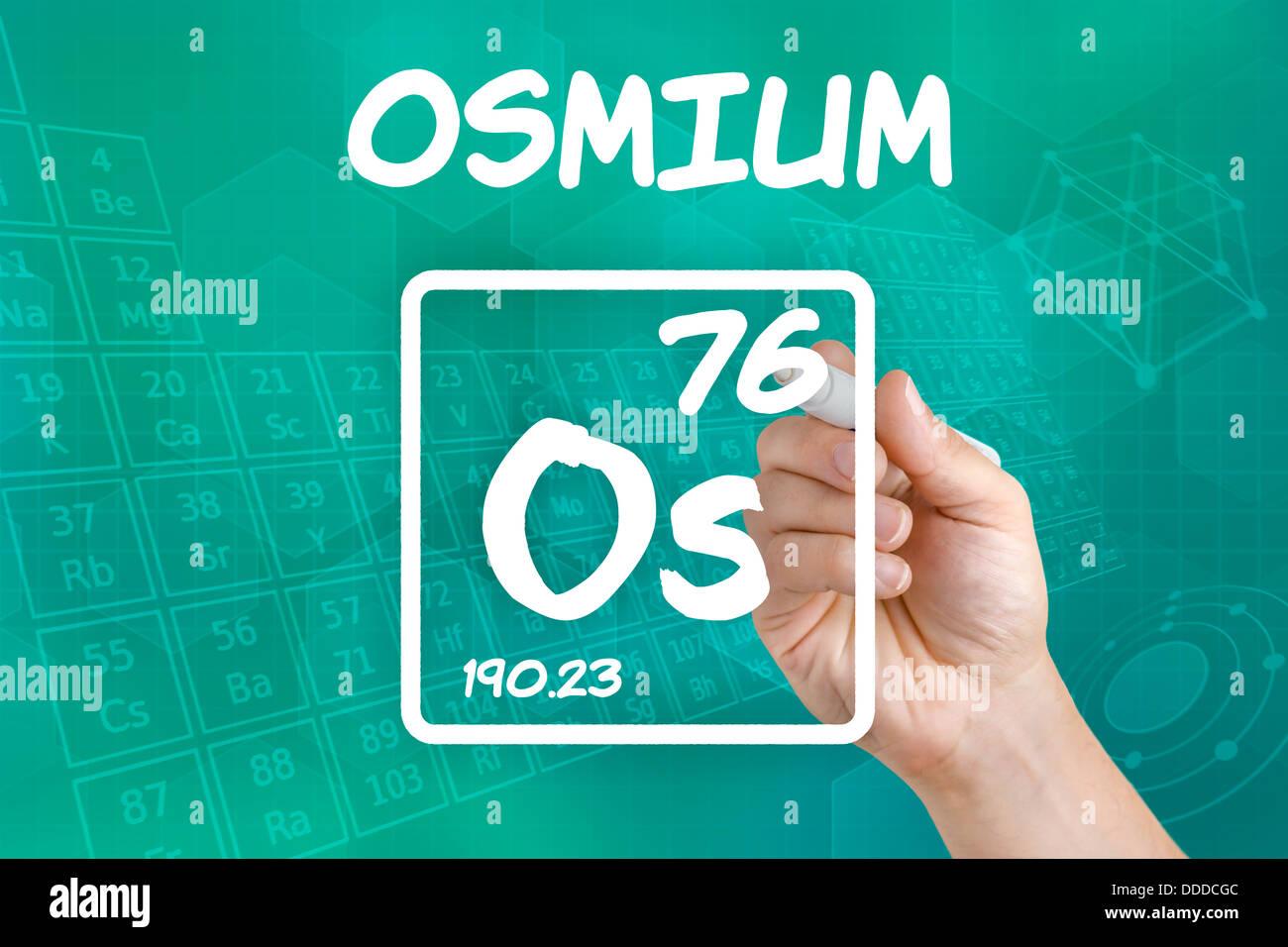 Symbol for the chemical element osmium stock photo 59916876 alamy symbol for the chemical element osmium urtaz Images