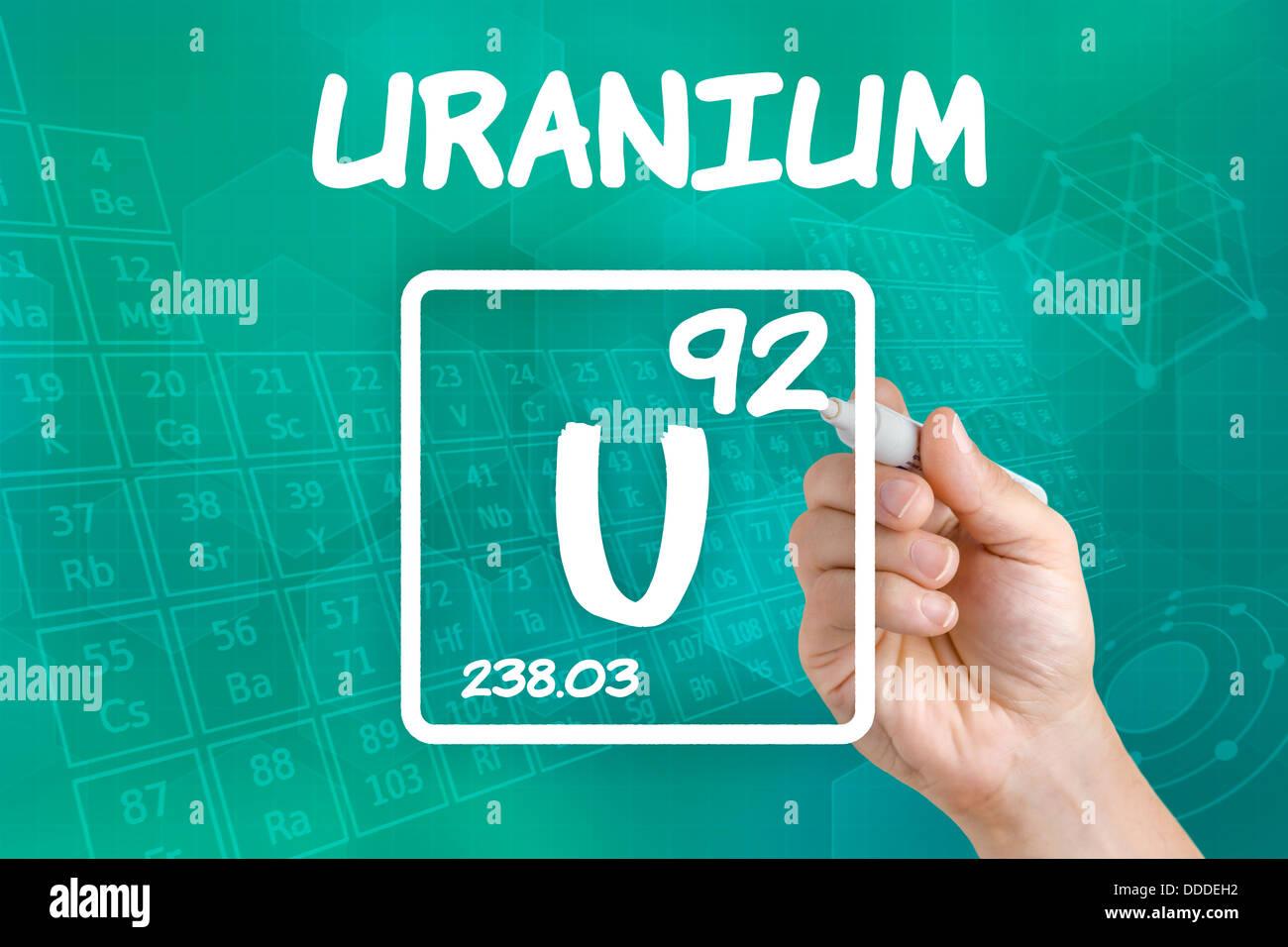 Symbol for the chemical element uranium stock photo 59918462 alamy symbol for the chemical element uranium buycottarizona Images