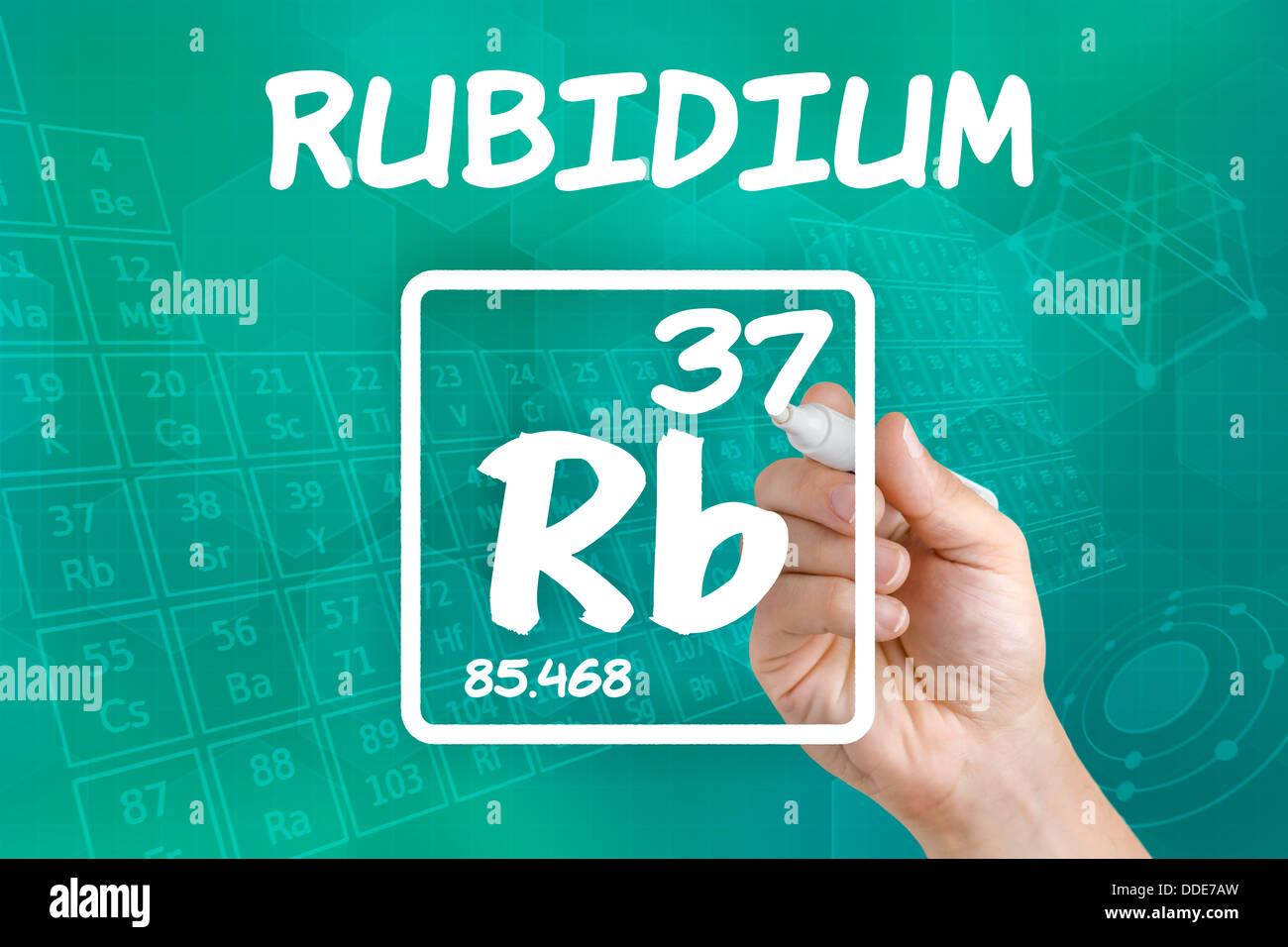 Symbol for the chemical element rubidium stock photo 59934753 alamy symbol for the chemical element rubidium buycottarizona Choice Image