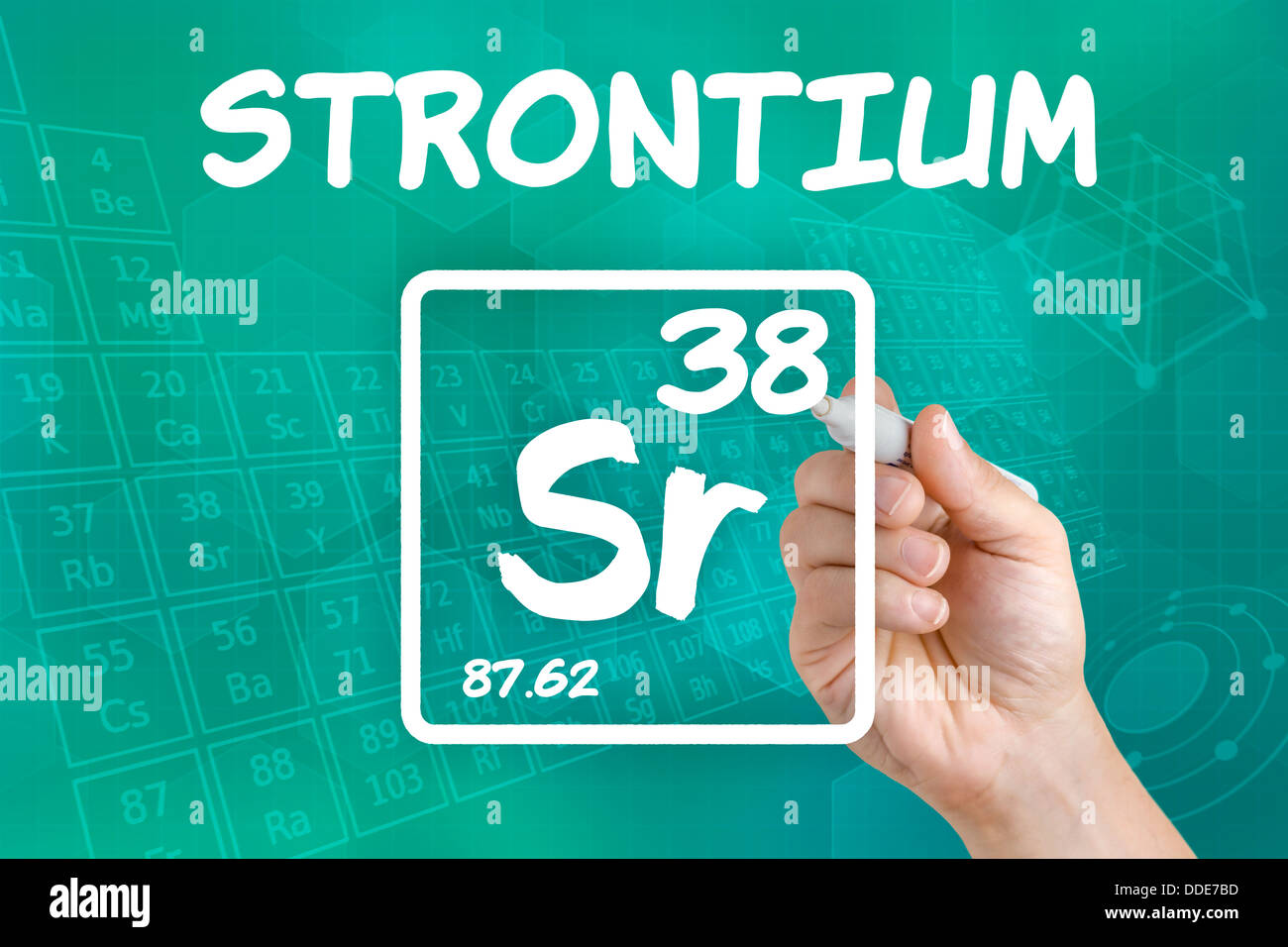 Symbol for the chemical element strontium stock photo royalty symbol for the chemical element strontium biocorpaavc