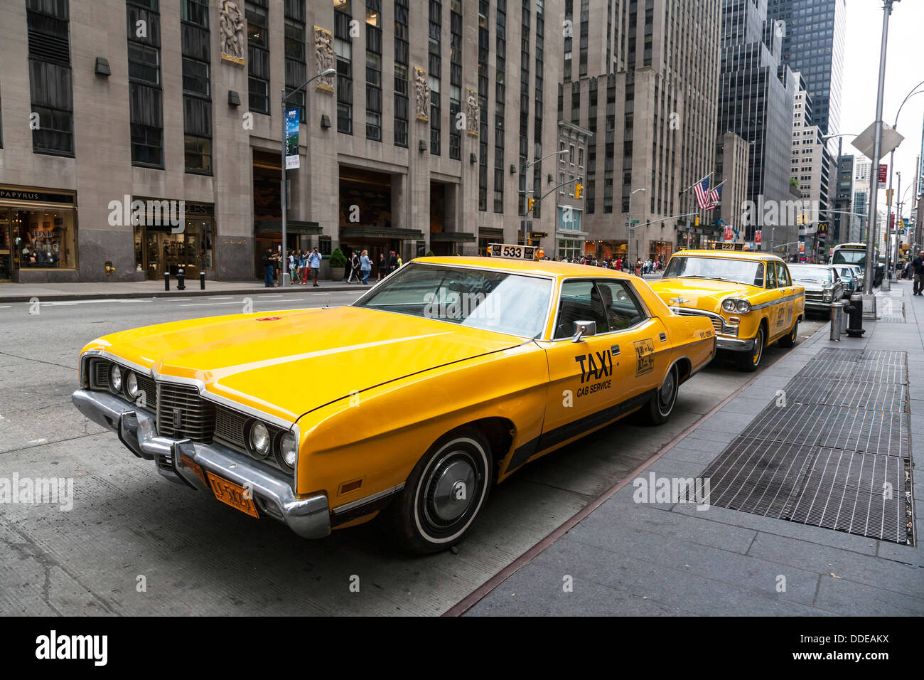 1970 39 s new york yellow taxi nyc usa stock photo 59937358 alamy. Black Bedroom Furniture Sets. Home Design Ideas