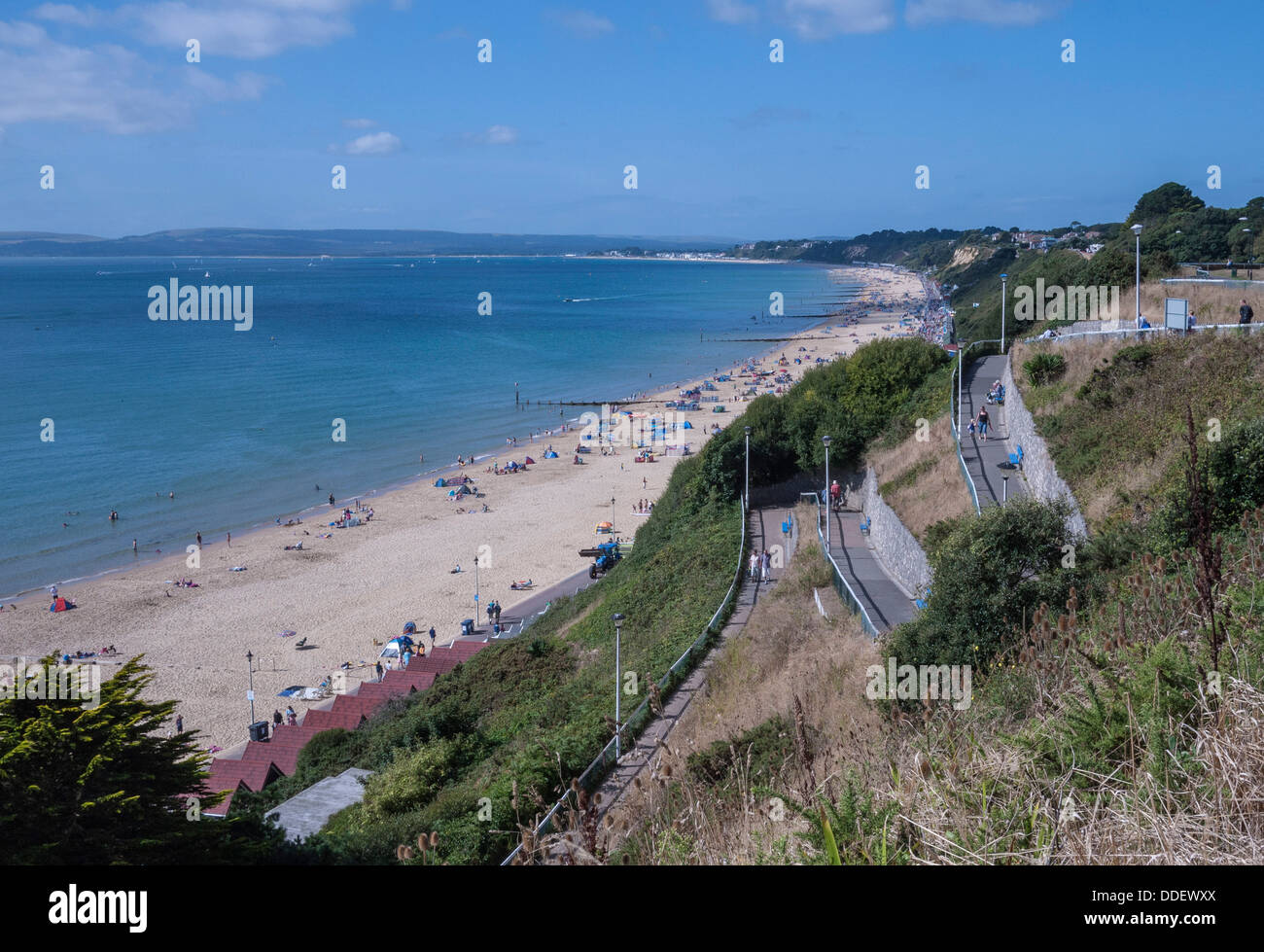 Bournemouth West Beach And Cliffs Poole Bay Dorset UK Europe