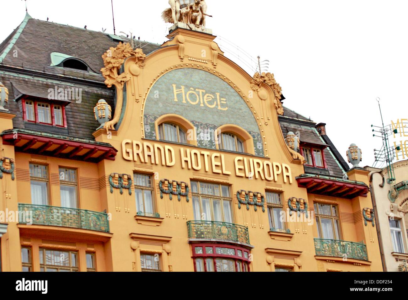 grand hotel europa prague czech republic on vaclavske namesti stock photo royalty free image. Black Bedroom Furniture Sets. Home Design Ideas