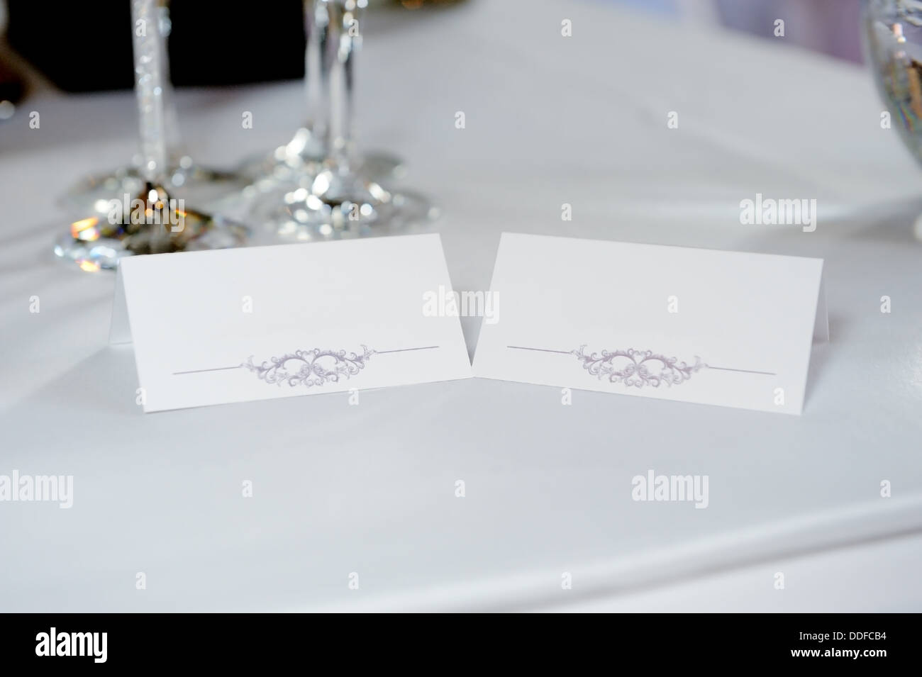 Wedding Reception Name Card To Reserve Place In The Evening