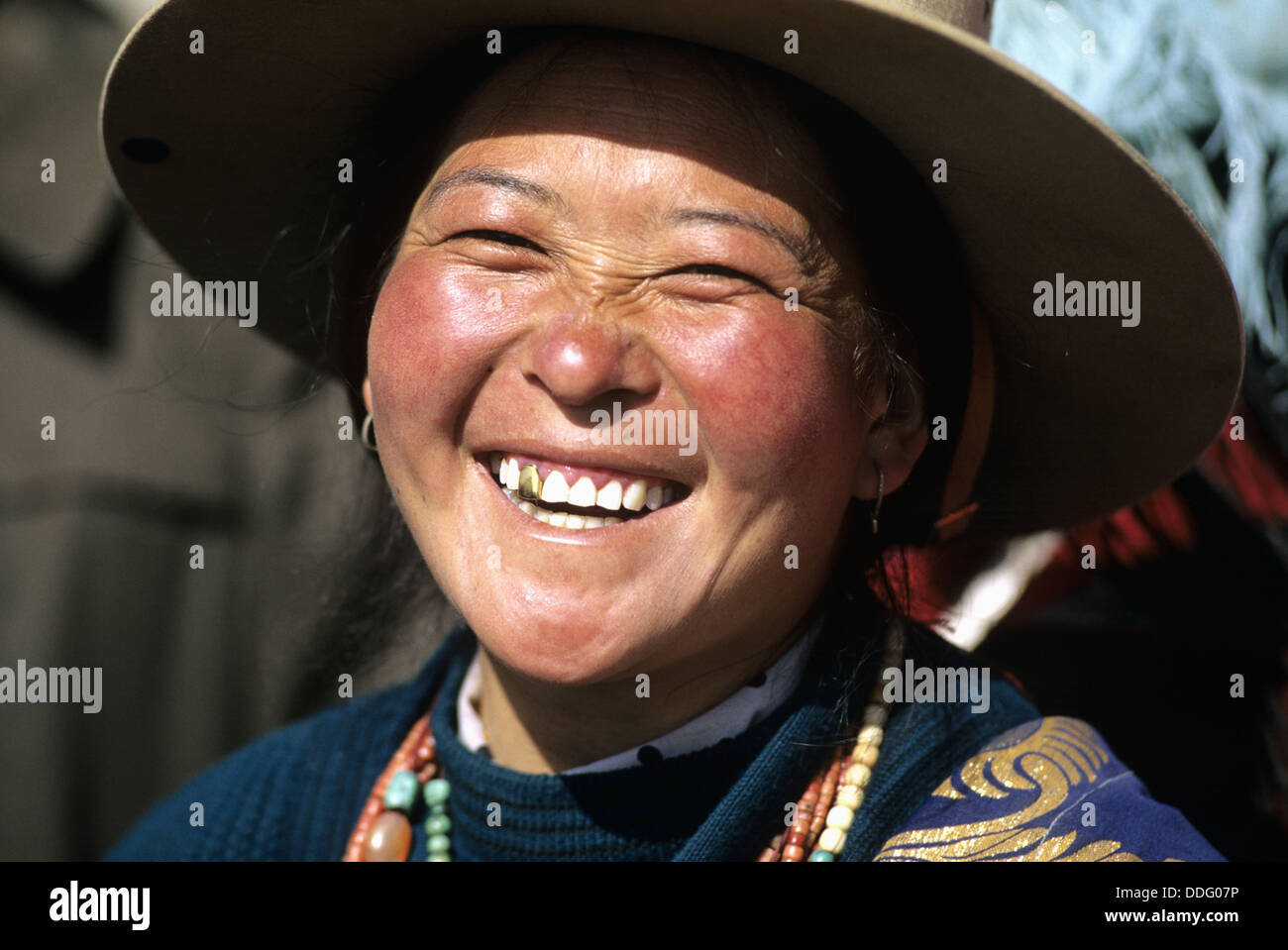 Portrait of a woman in the chinese <b>western province</b> of Qinghai, <b>...</b> - portrait-of-a-woman-in-the-chinese-western-province-of-qinghai-on-DDG07P