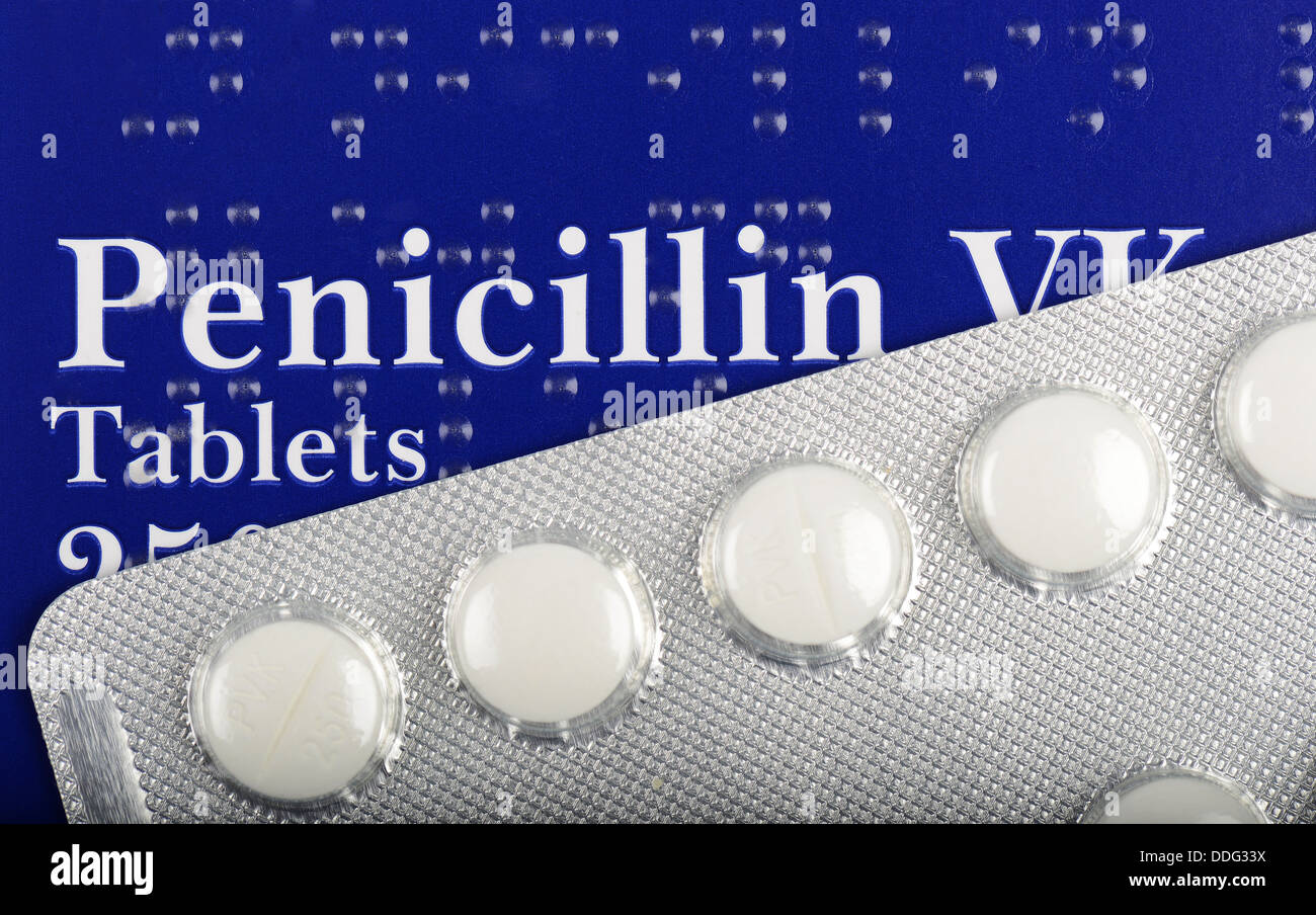 Penicillin VK antibiotic tablets, Penicillin antibiotics ...