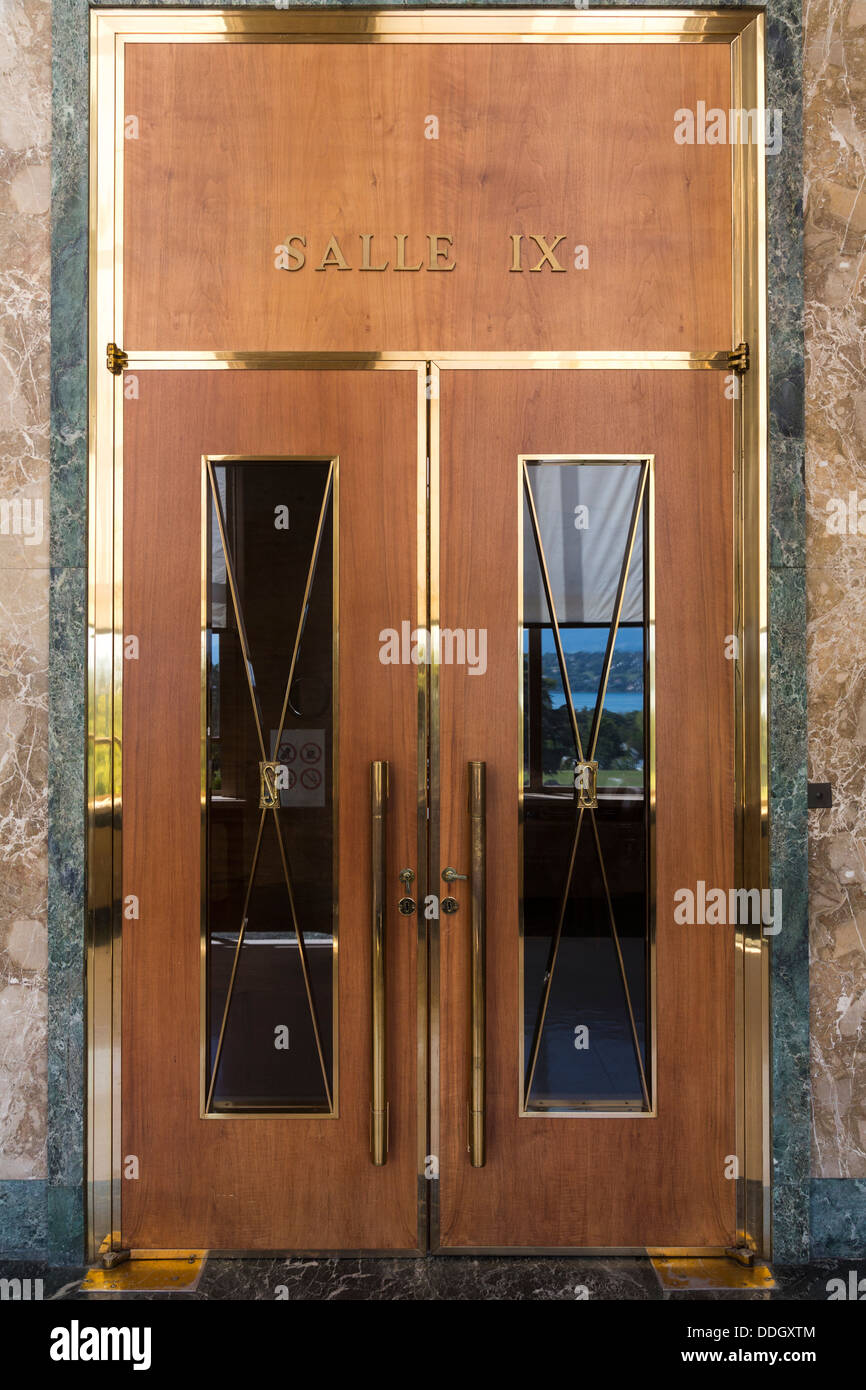 Art Deco Doors To Meeting Room IX, Palais Des Nations, United Nations  Building, Geneva, Switzerland
