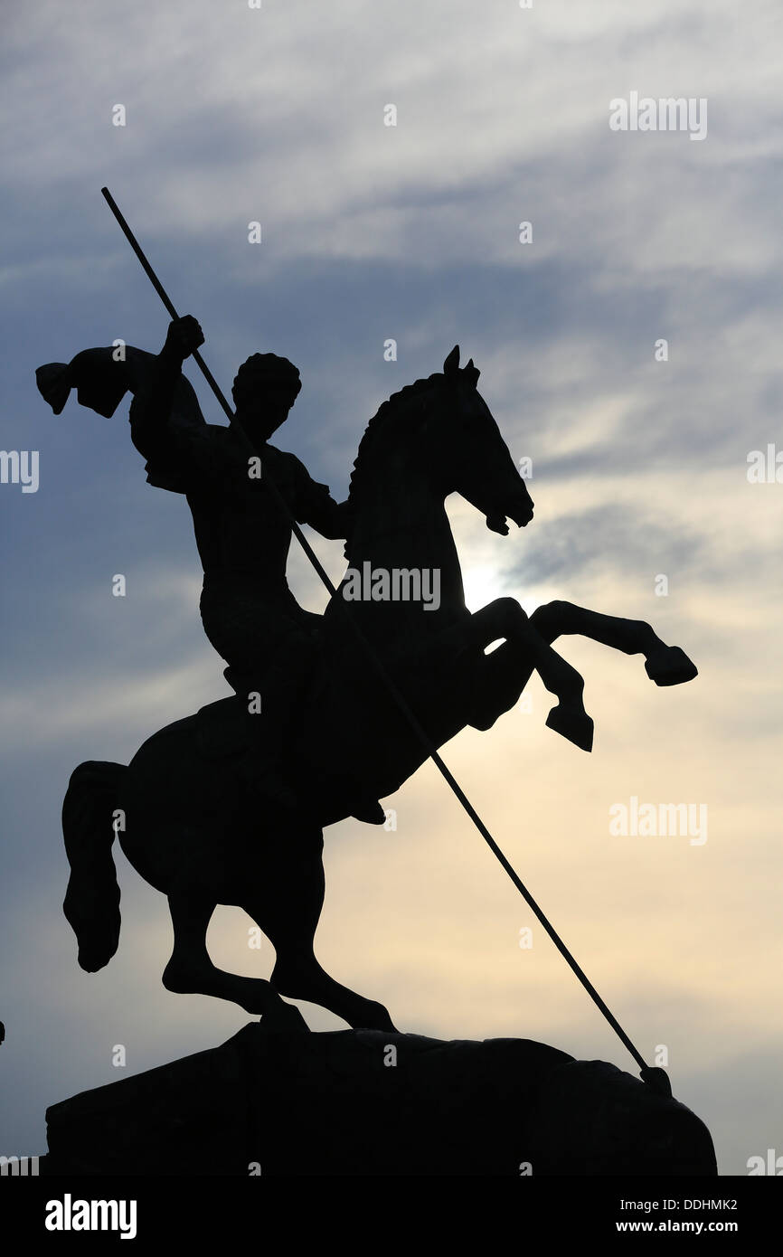 Equestrian statue rider slaying a dragon a symbol of russias equestrian statue rider slaying a dragon a symbol of russias victory over nazi germany biocorpaavc Gallery