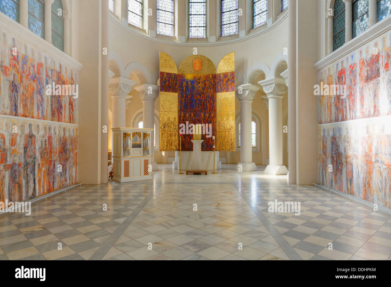 Art of color worrstadt - Secco Fresco Painting With The Altar By Valentin Oman 1987 In The