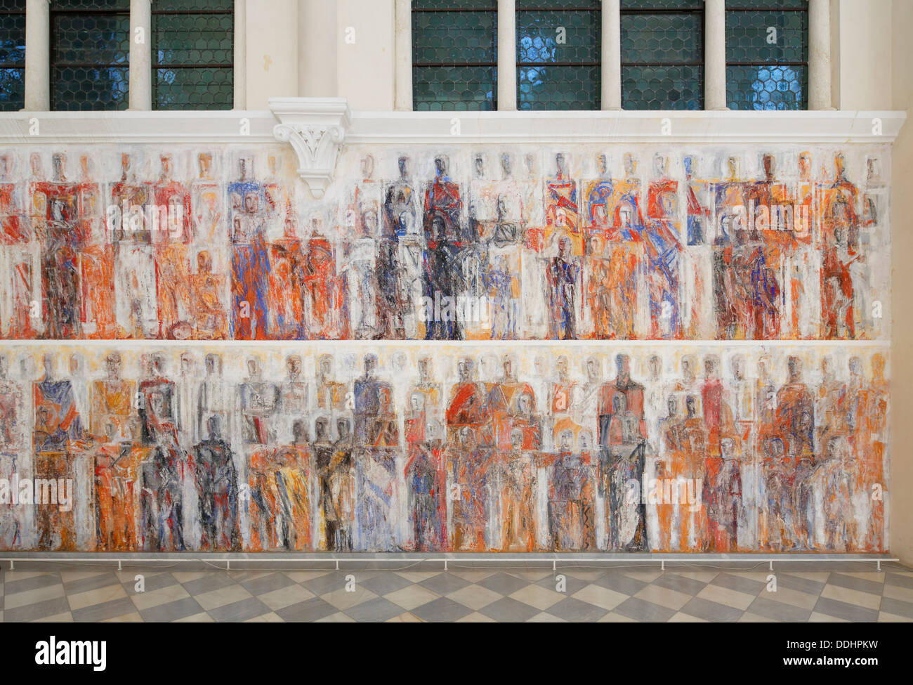 Art of color worrstadt - Secco Fresco Painting By Valentin Oman 1987 In The Church Of Marianum Tanzenberg