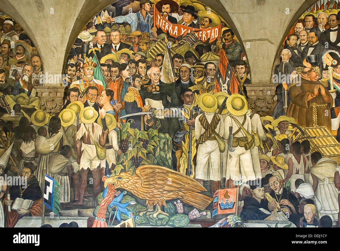Mural painting of diego rivera 1886 1957 in the national for Mural history
