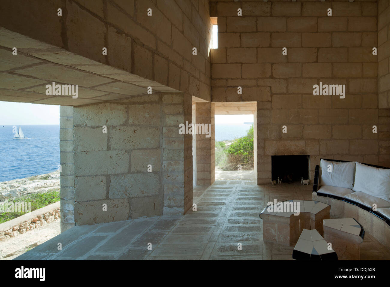 Can Lis, Mallorca, Spain. Architect: Utzon, Jorn, 1971. Living Room with