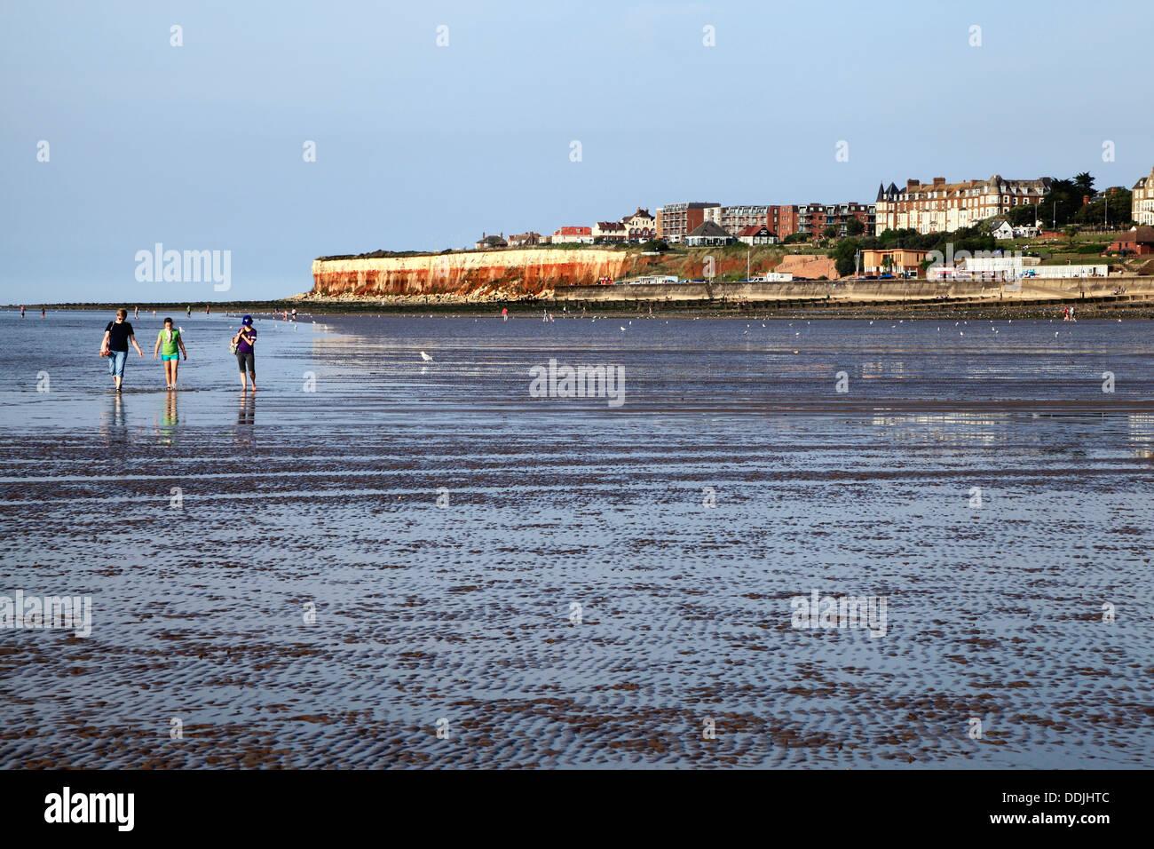 Hunstanton Beach Norfolk At Low Tide England Uk English Seaside Holiday Resort Town Towns Resorts The Wash Coast Coastal