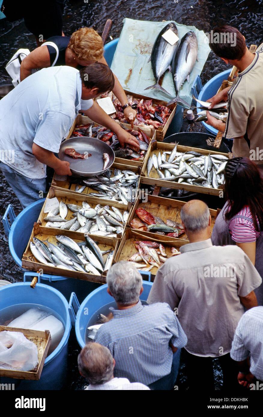 La pescheria fish market catania sicily italy stock for La fish market