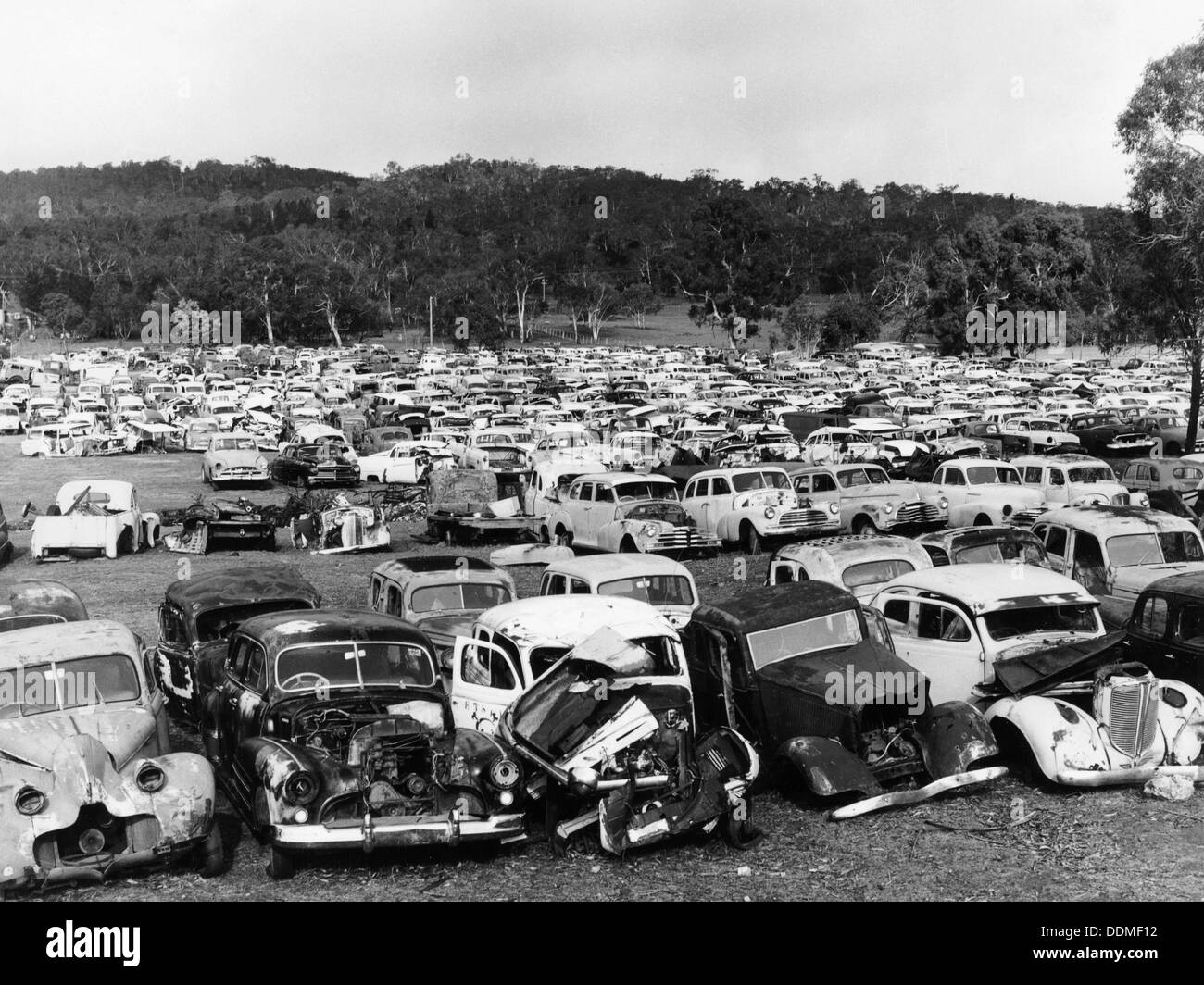 Old cars in a scrapyard, Cooma, New South Wales, Australia, 1973 ...
