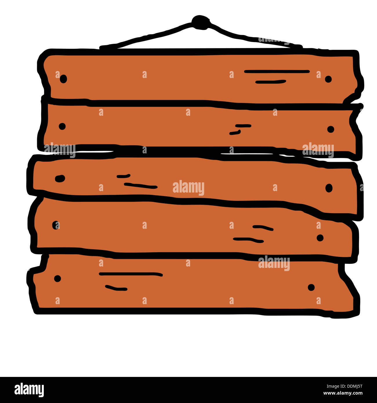 bulletin board old wooden sign vector art hanging on a