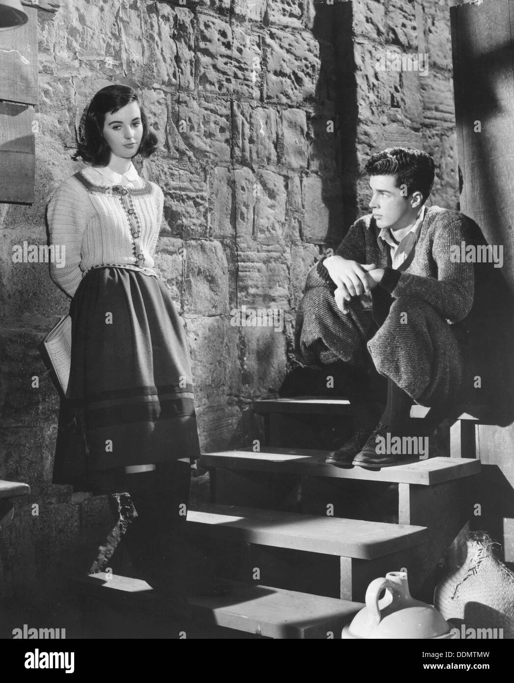 millie perkins and richard beymer in the diary of anne