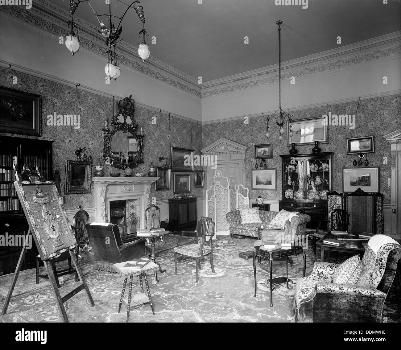 Piccadilly Apartments: Interior At The Albany, Piccadilly, London, 1903. Artist