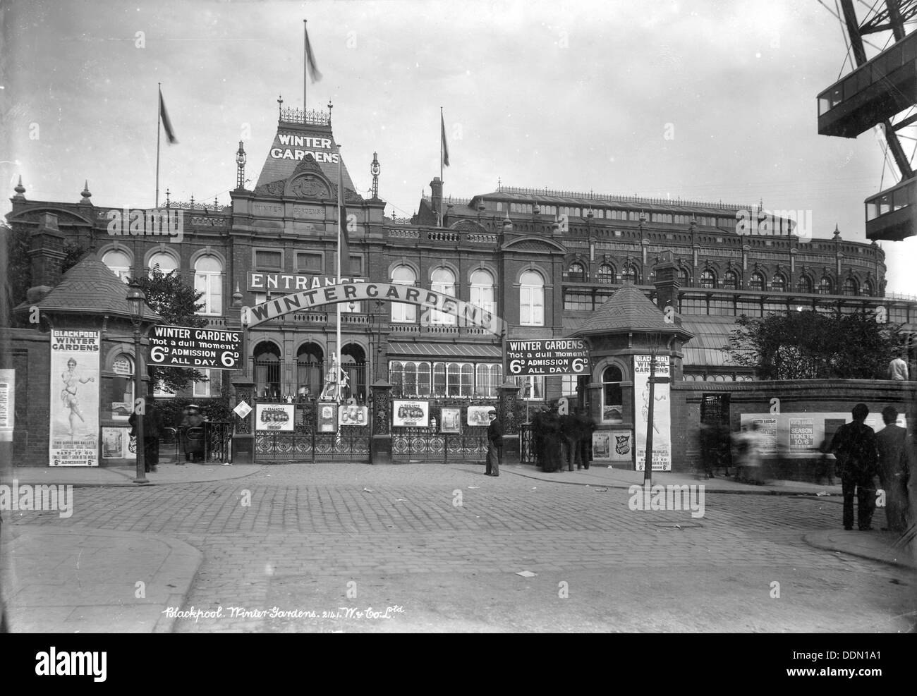 the winter gardens blackpool lancashire 1890 1910 stock photo