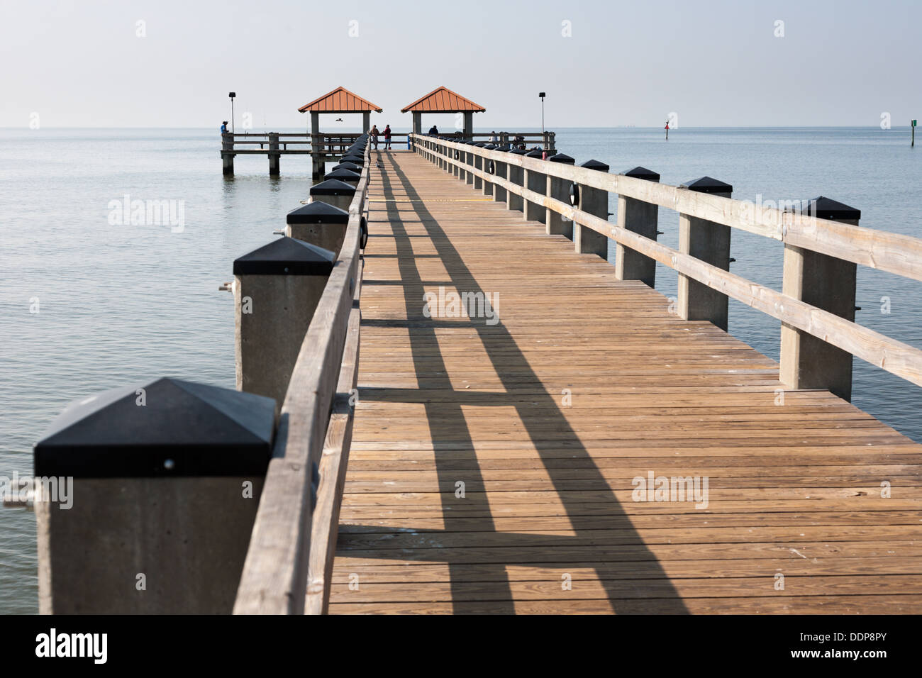 ken combs fishing pier in gulf of mexico at courthouse
