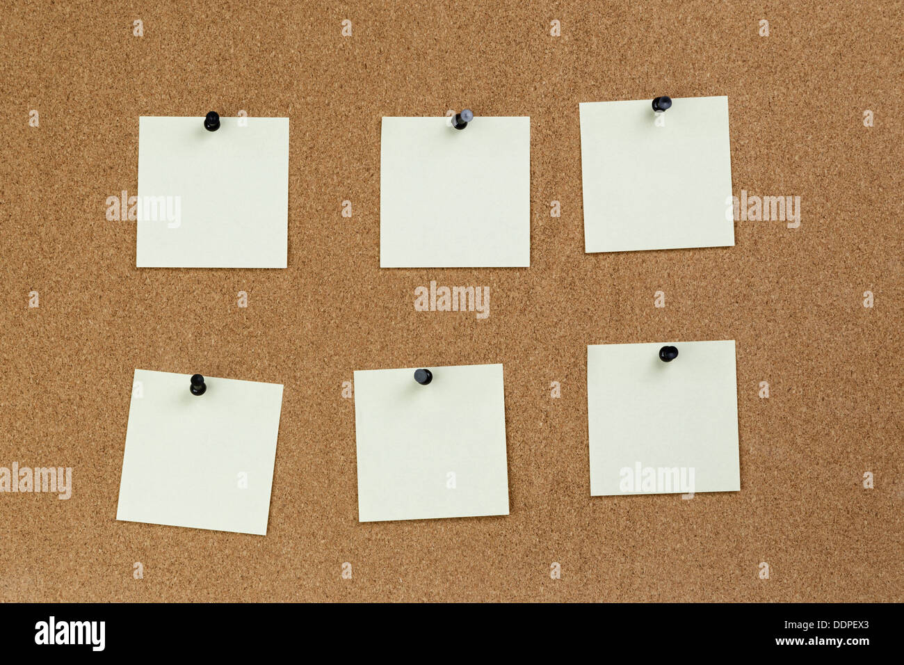 notes reminders on the cork board, template Stock Photo, Royalty ...