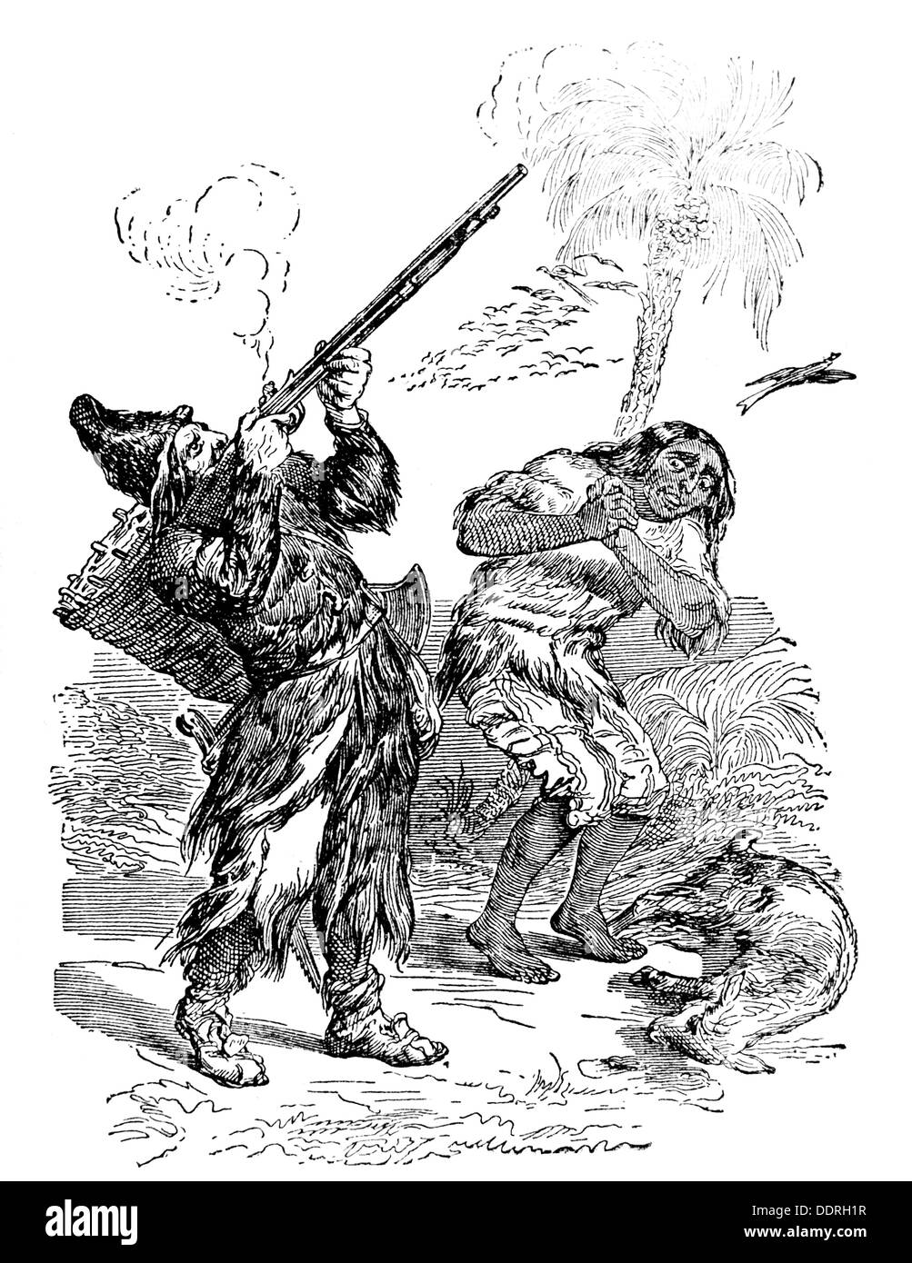 an analysis of savagery in robinson crusoe by daniel defoe Crusoe colonizare - download as word  but friday's noble savagery allows crusoe to distinguish his slave from the  defoe's robinson crusoe actually reveals.