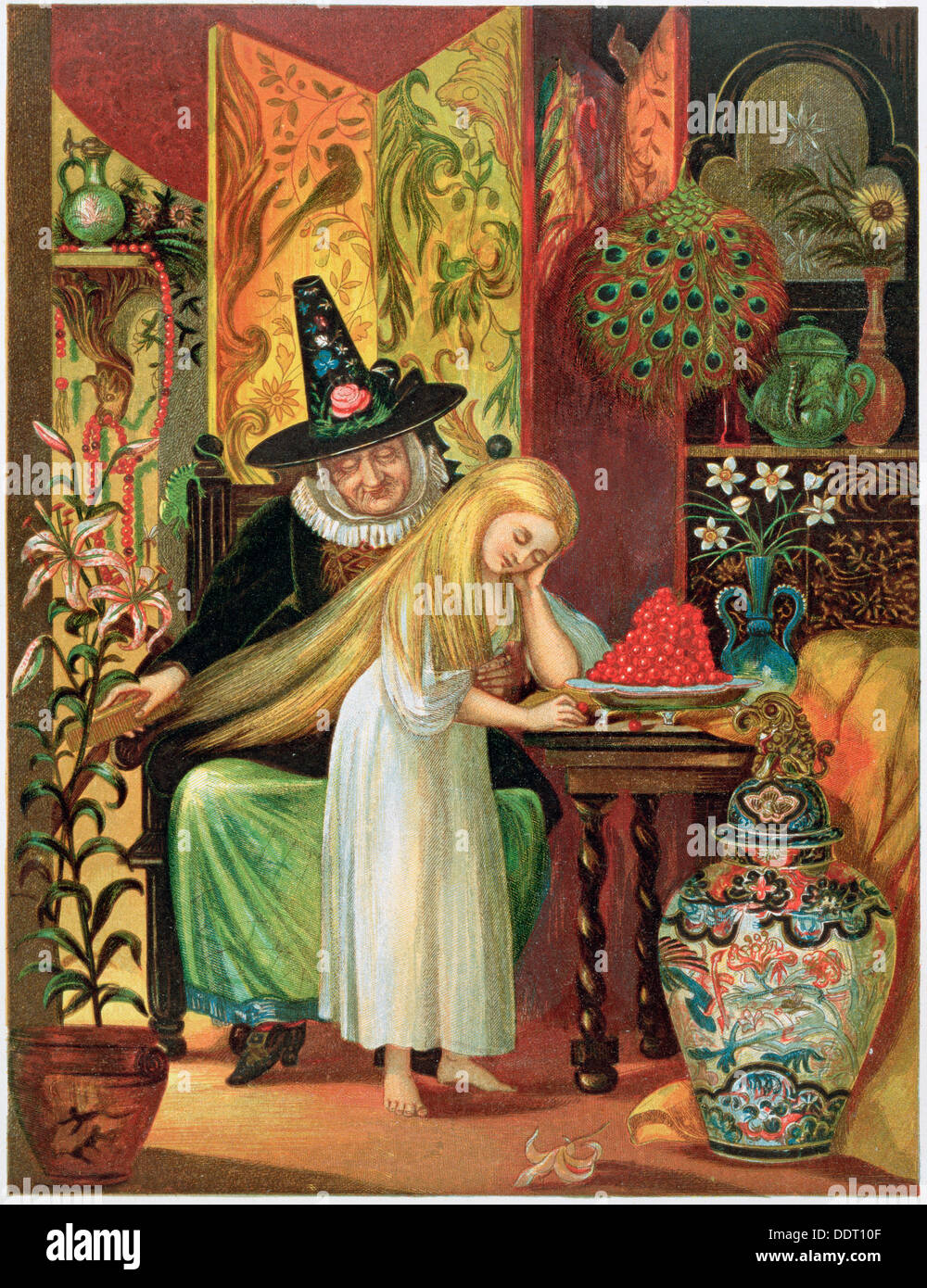 scene from hans christian andersens fairy tale the snow