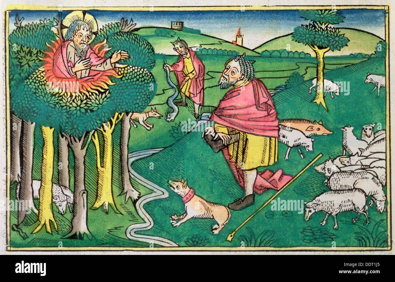 exodus 3 1 22 and 4 1 4 the burning bush amd god arming moses